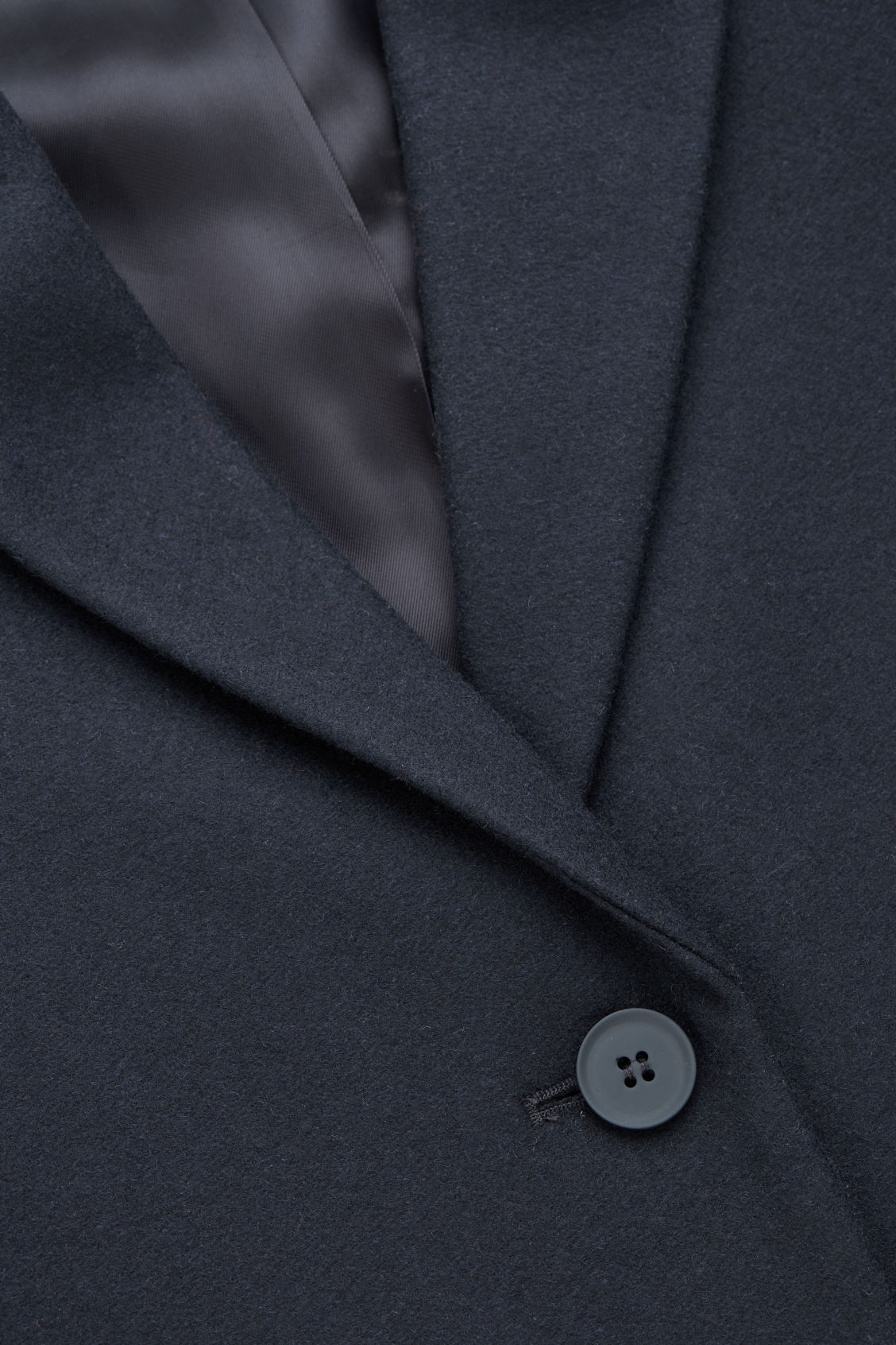 Side image of Cos tailored wool coat in blue