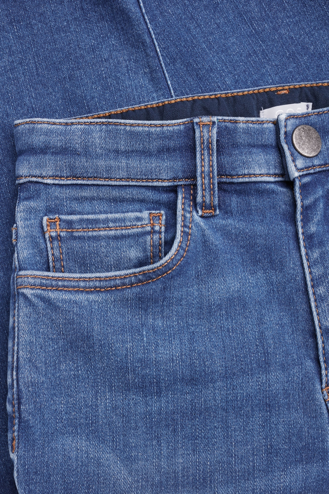 Side image of Cos cropped straight-leg jeans  in blue