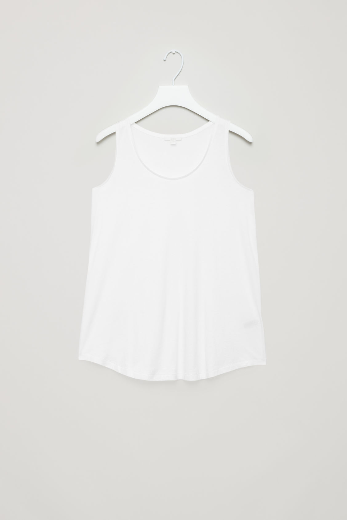Front image of Cos flared cotton vest in white