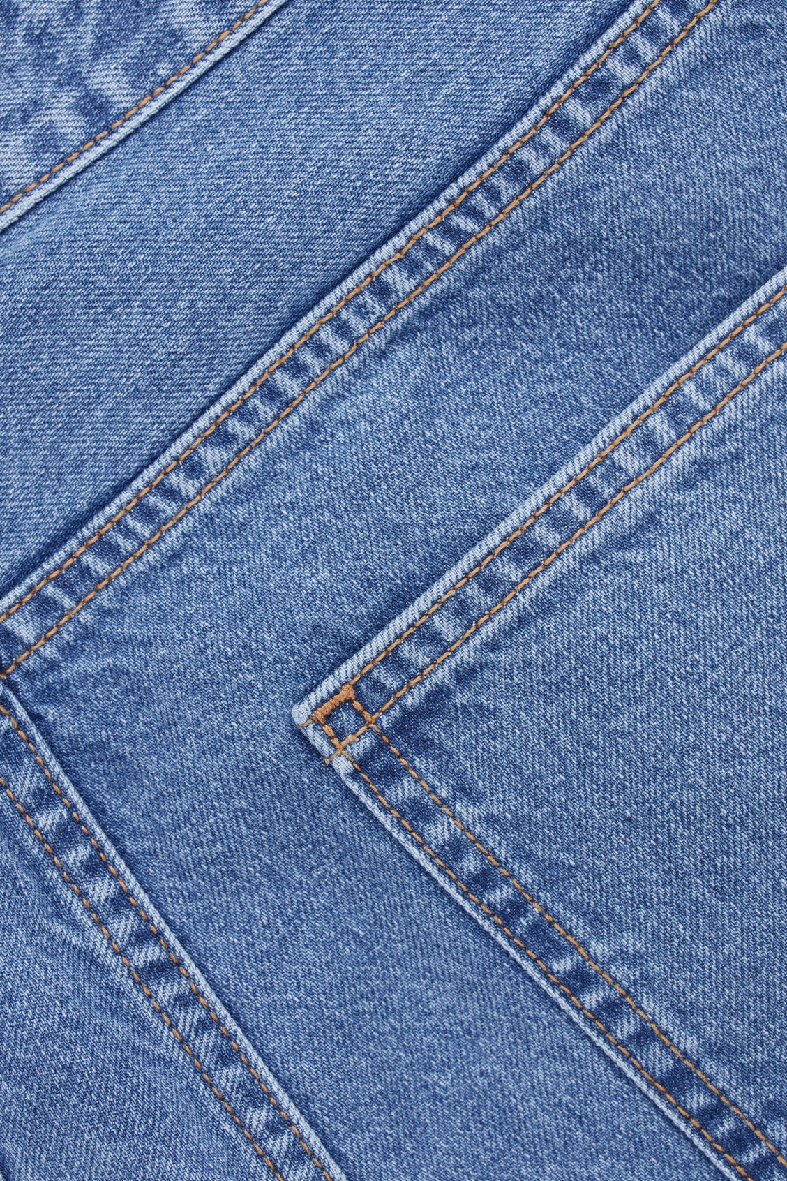 Side image of Cos selvedge straight-leg jeans in blue