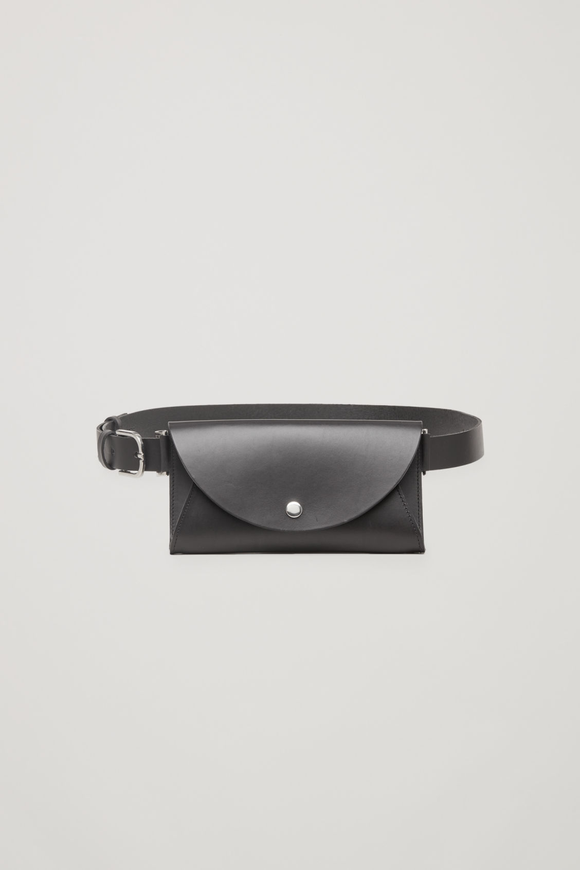 Front image of Cos belted pocket bag in black
