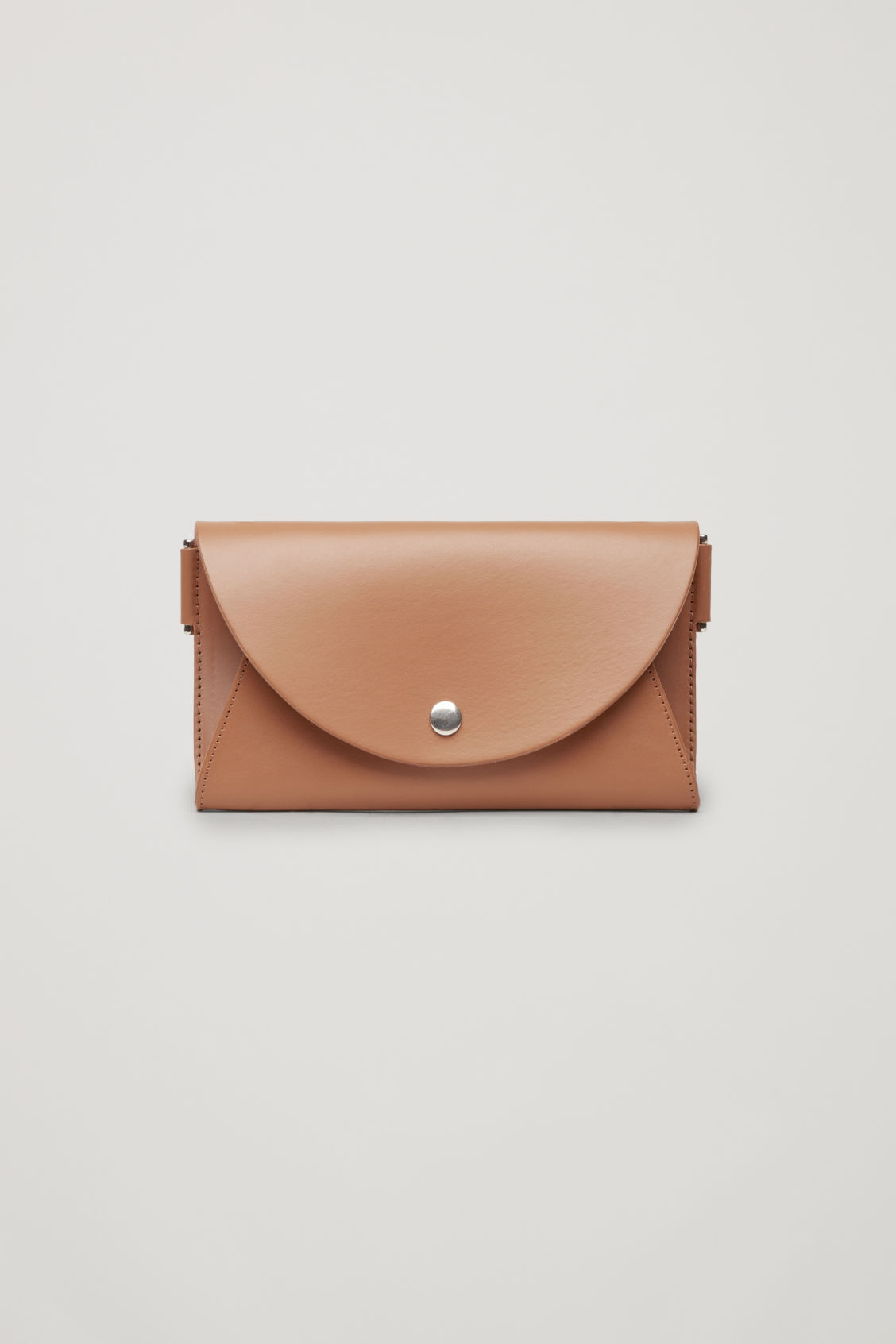 Front image of Cos detachable leather belt bag in beige