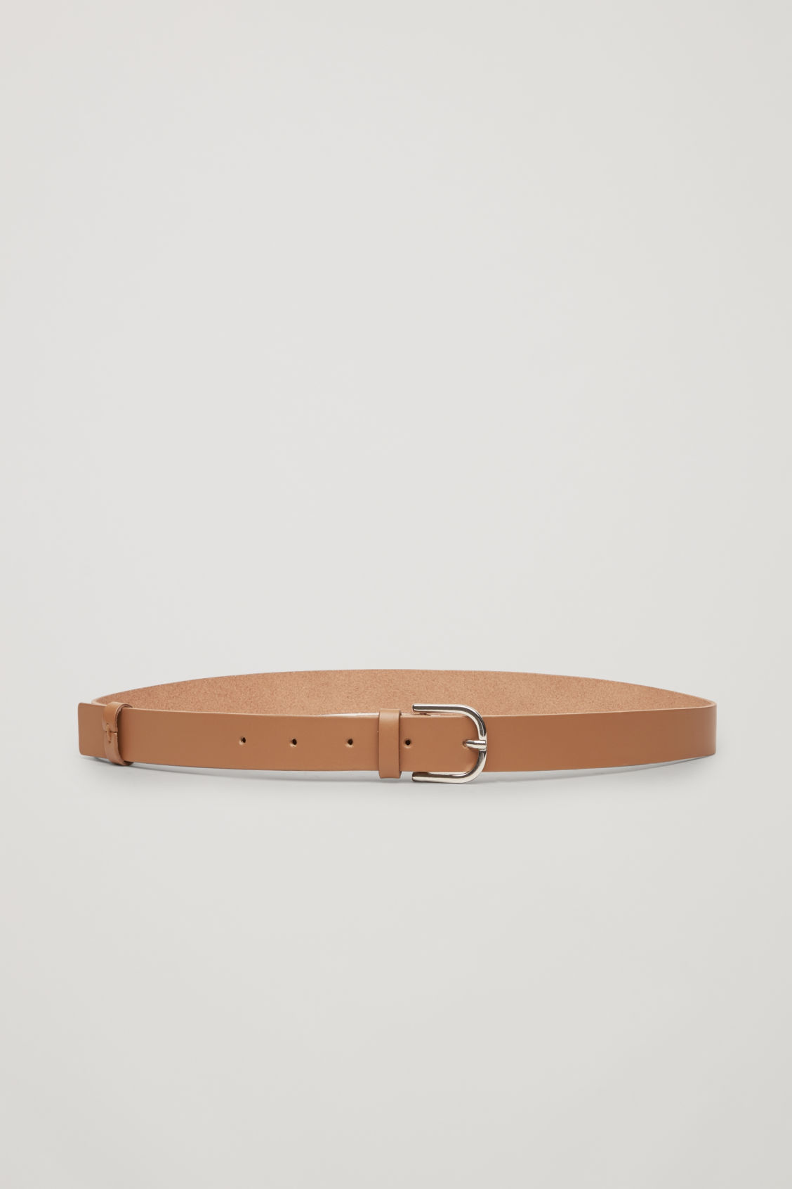 Side image of Cos detachable leather belt bag in beige