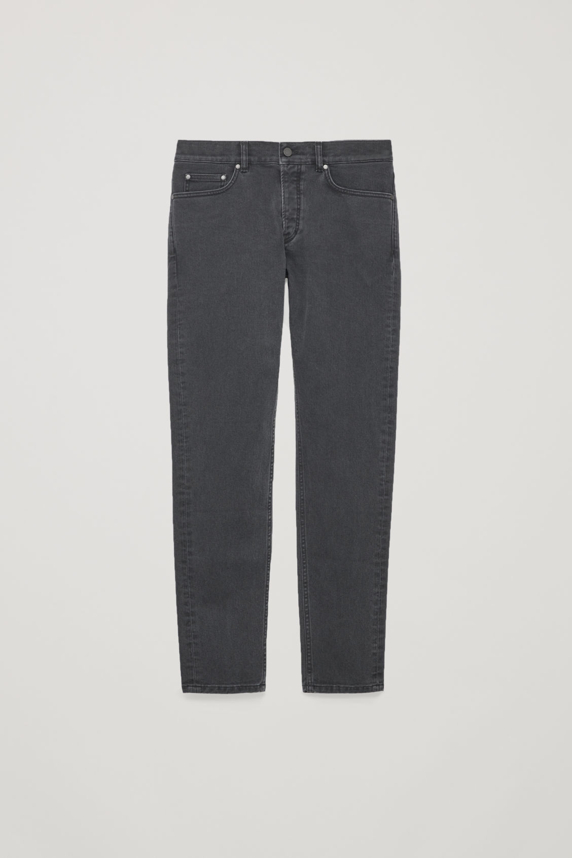 Front image of Cos slim tapered jeans in grey
