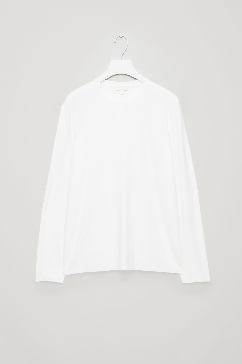 Front image of Cos long-sleeve top in white