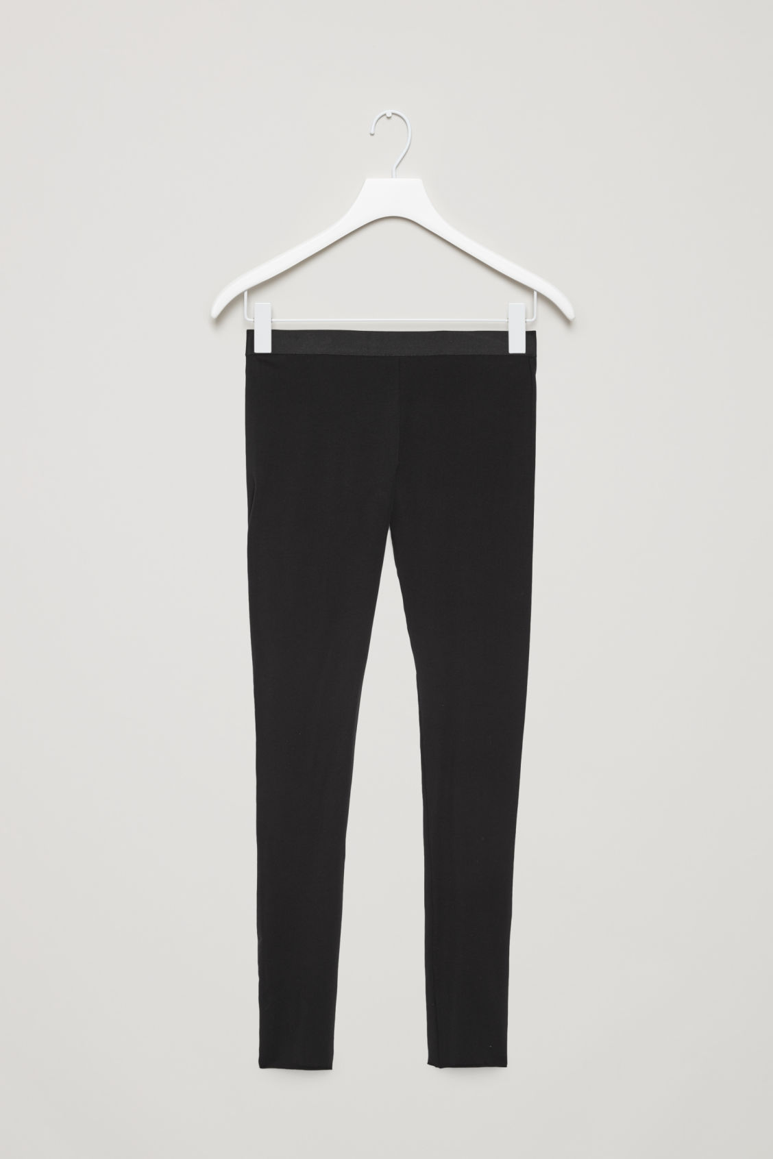 Front image of Cos elastic-waist leggings  in black