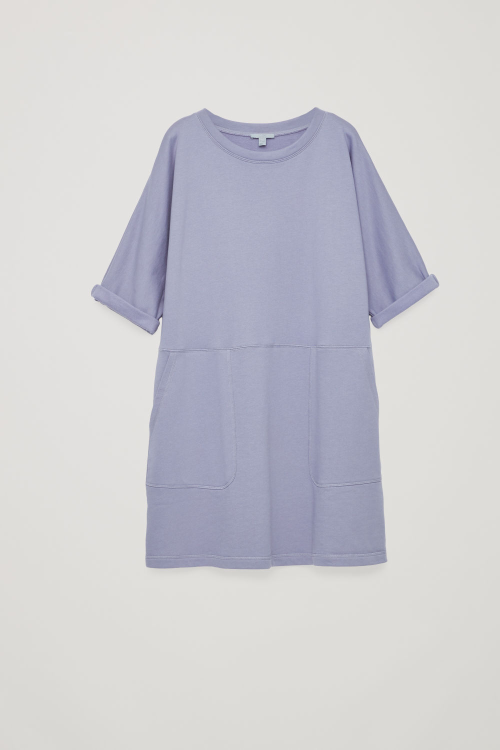 PATCH-POCKET JERSEY DRESS