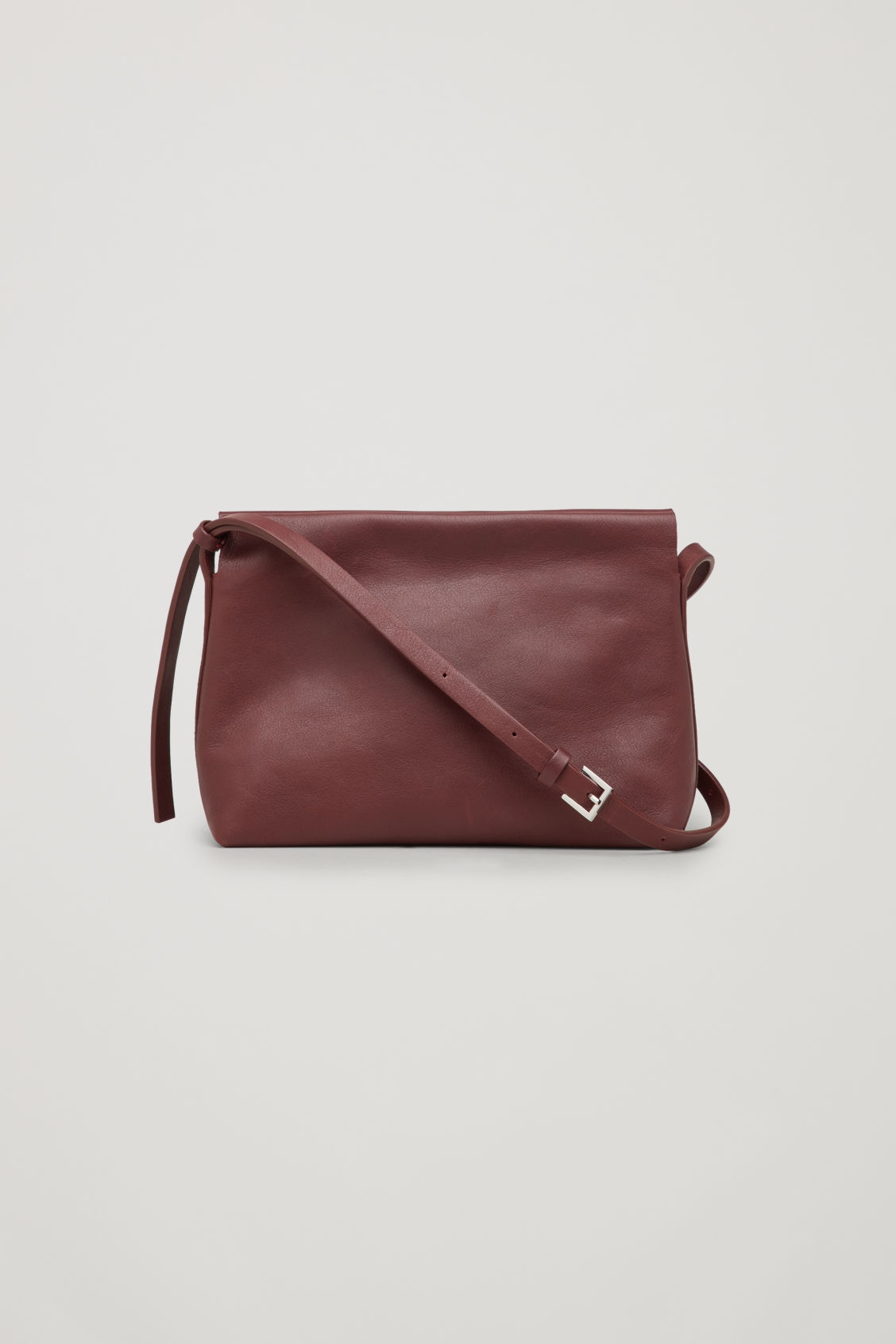 Front image of Cos textured leather shoulder bag  in purple