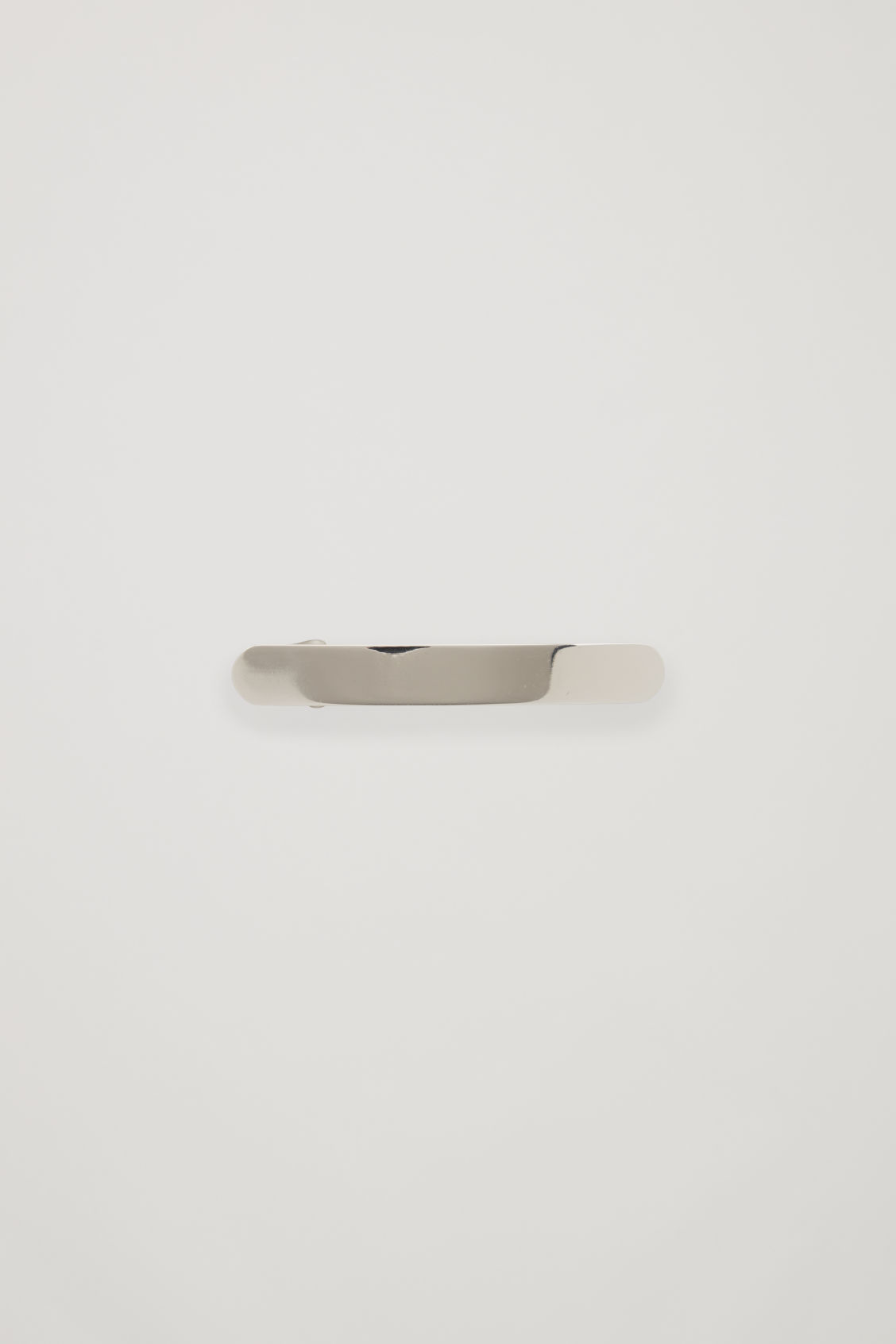 Front image of Cos metal hair clip  in silver