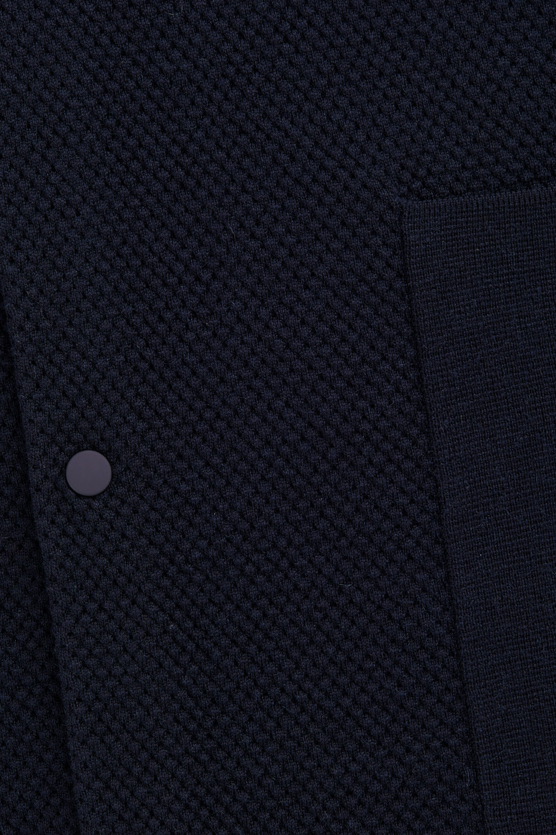 Side image of Cos structured merino cardigan in blue
