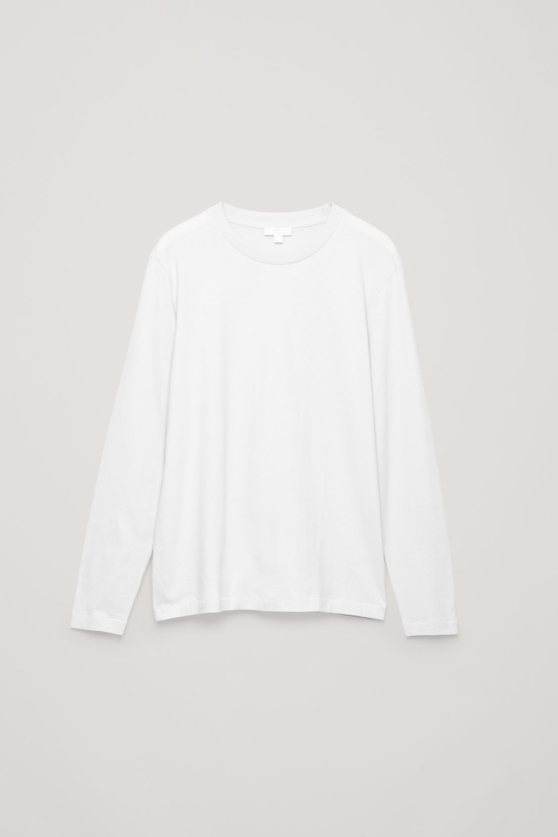 Front image of Cos long-sleeved cotton t-shirt  in beige