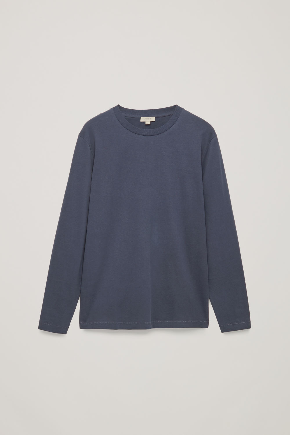 Front image of Cos long-sleeved cotton t-shirt  in blue