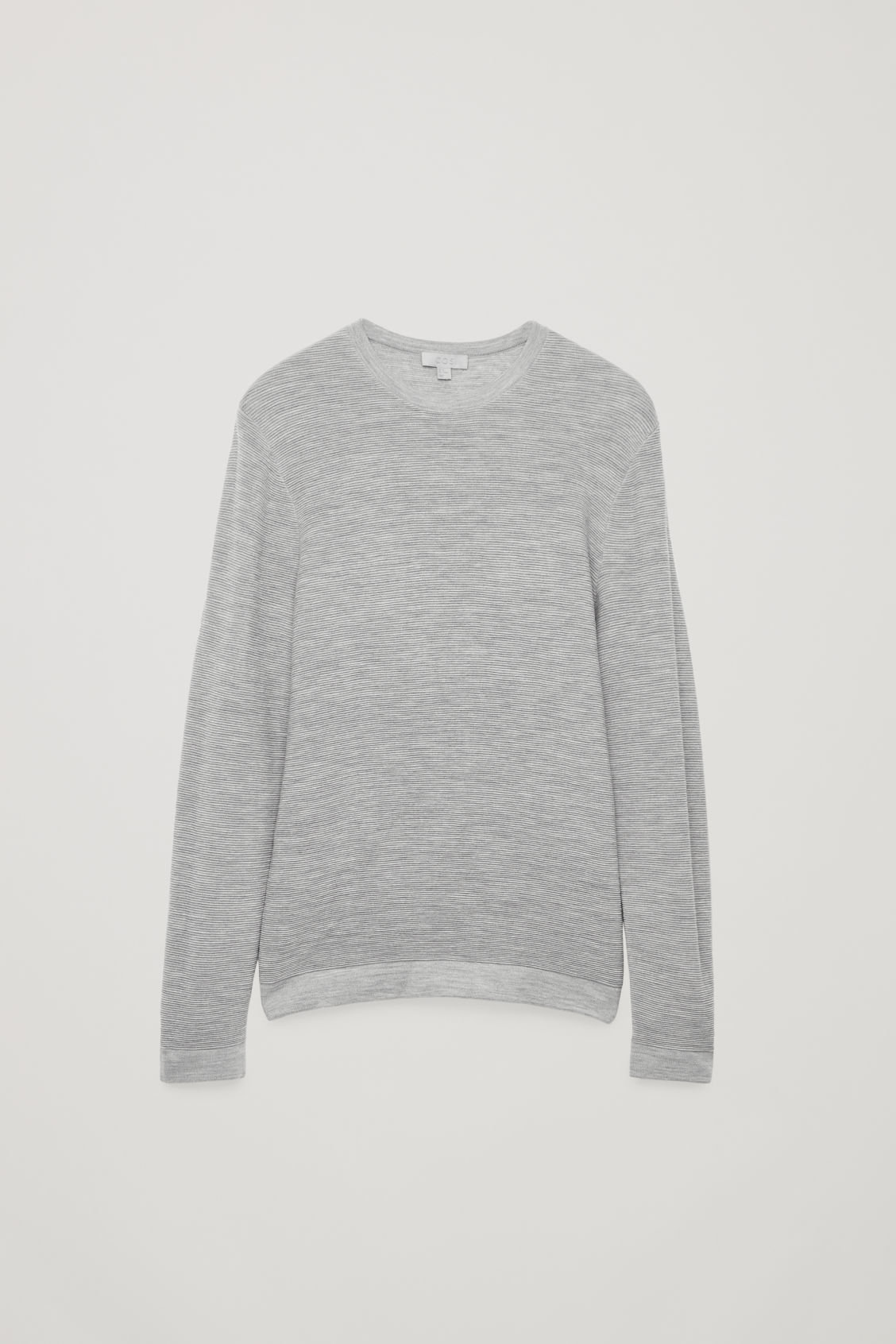 Front image of Cos ripple-stitch knit jumper in grey