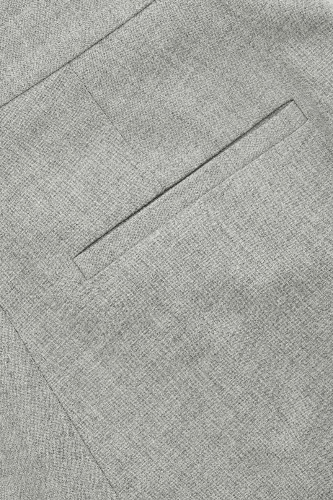 Side image of Cos wide-leg flannel trousers  in grey