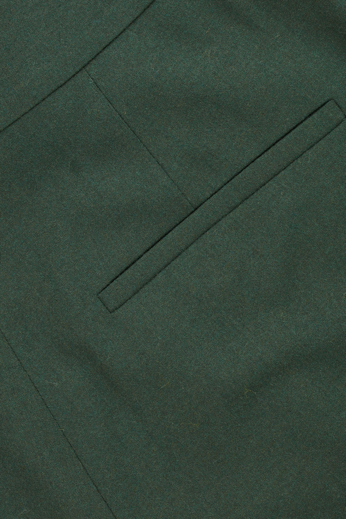 Side image of Cos wide-leg flannel trousers  in green