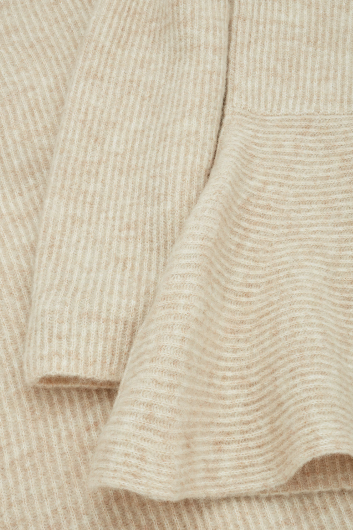 Side image of Cos waisted peplum jumper  in beige