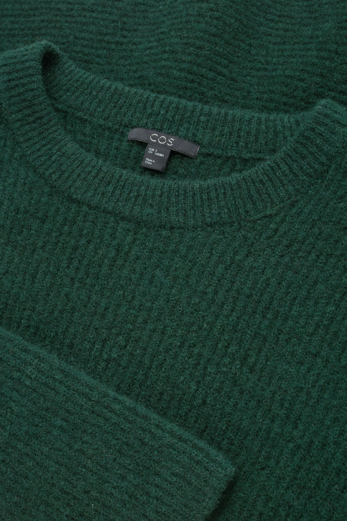Side image of Cos waisted peplum jumper  in green
