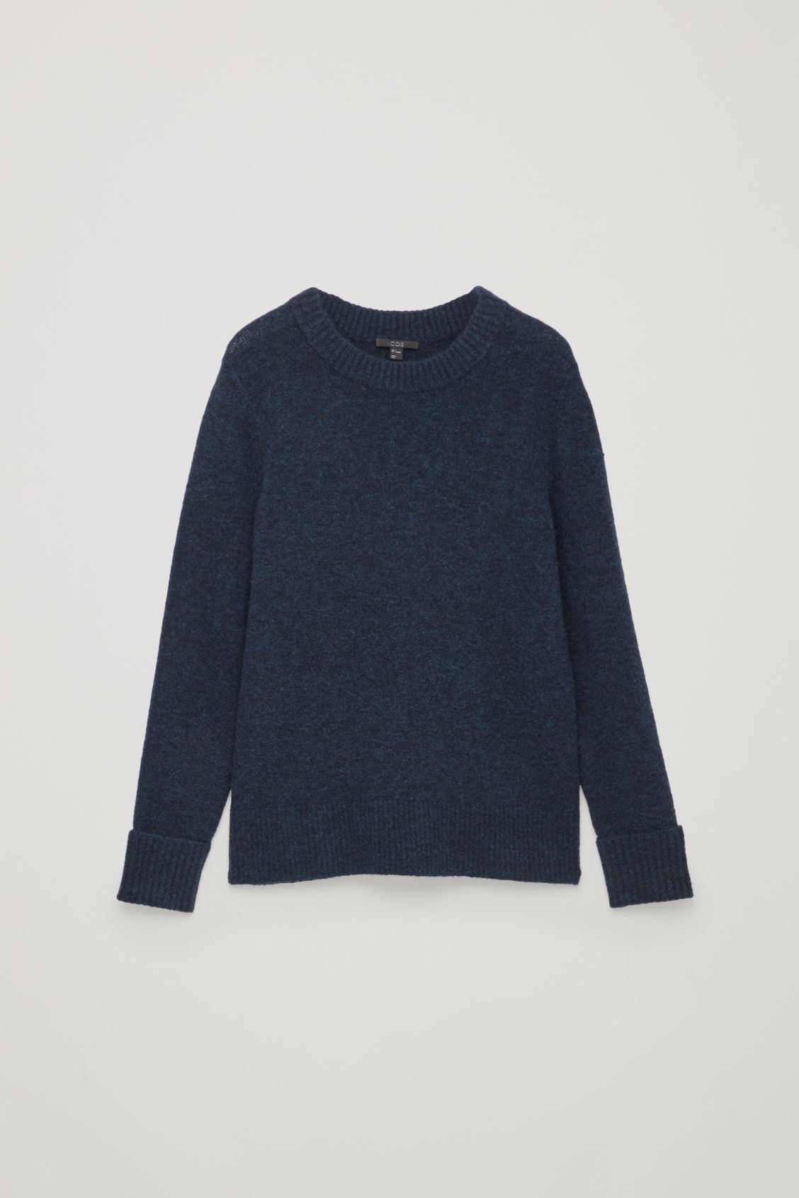 Front image of Cos alpaca and wool jumper  in blue