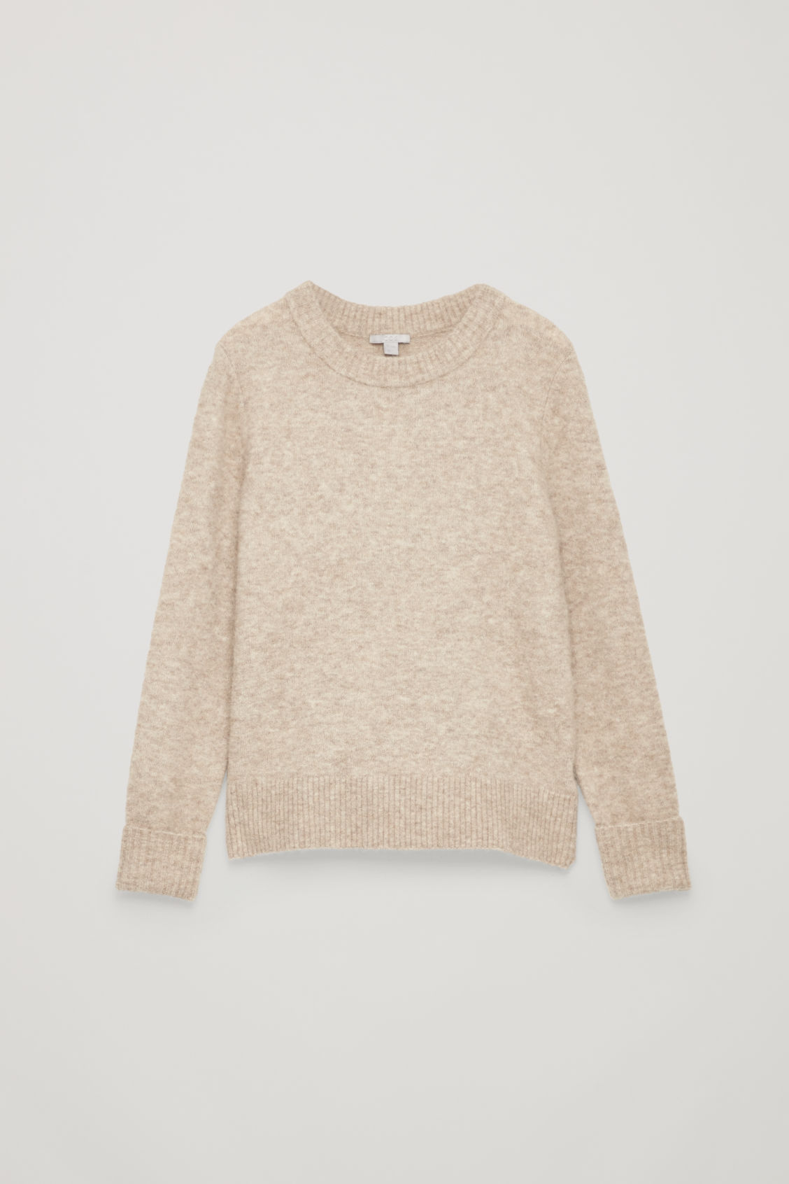 Front image of Cos alpaca and wool jumper  in brown
