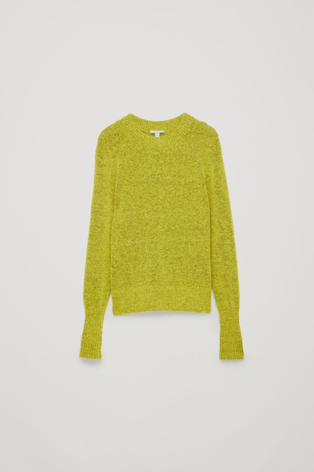 Front image of Cos alpaca and wool jumper  in yellow