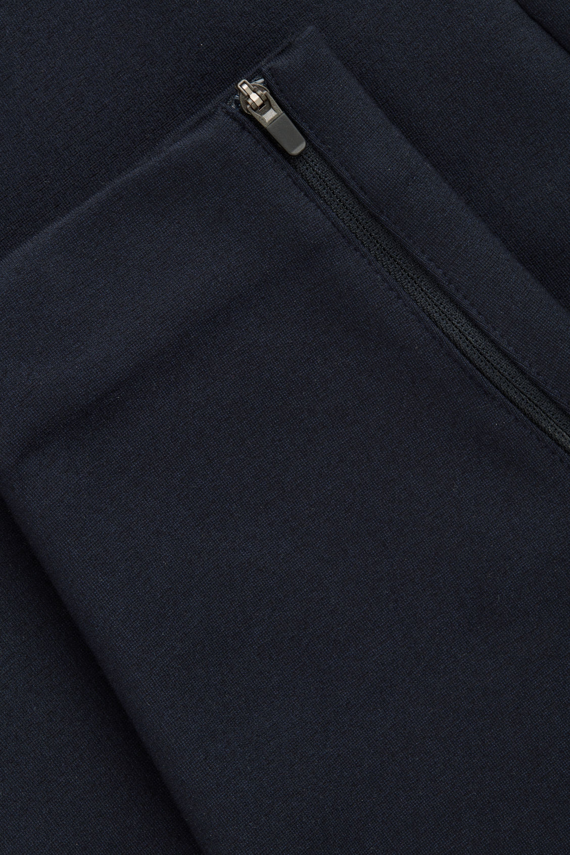 Side image of Cos zip-cuff jersey trousers in blue