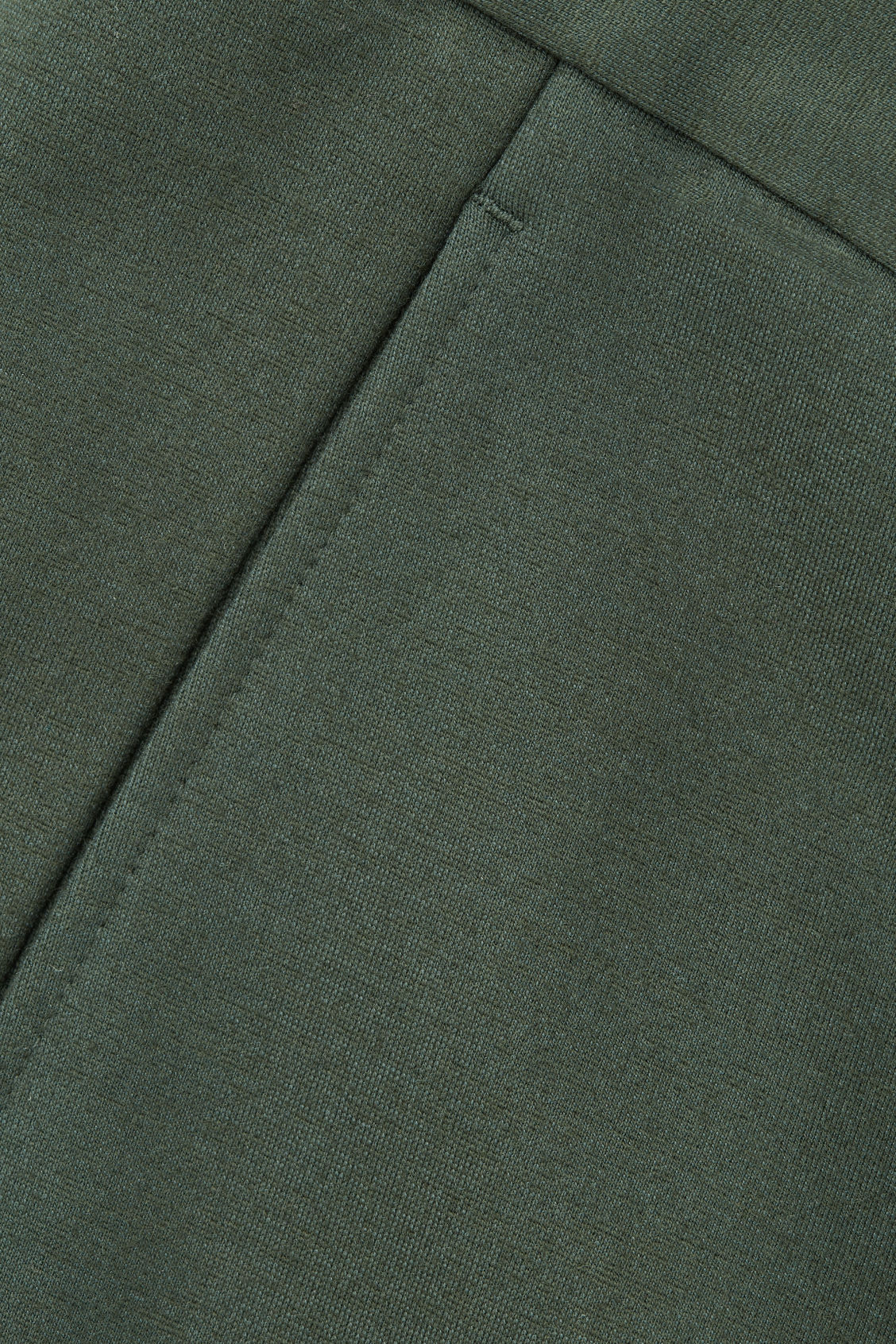 Side image of Cos zip-cuff jersey trousers in green