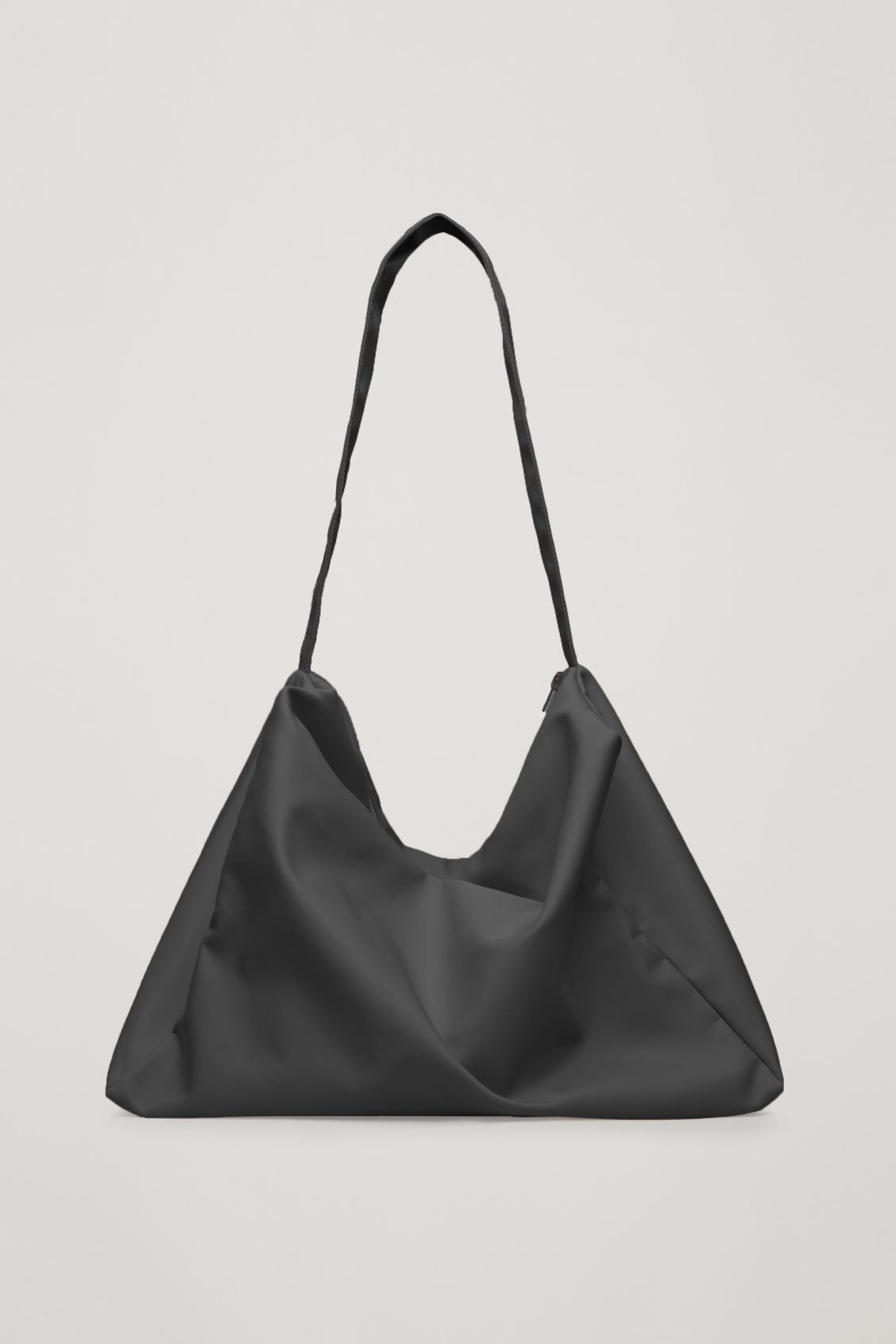 Front Image Of Cos Collapsed Tote Bag In Black