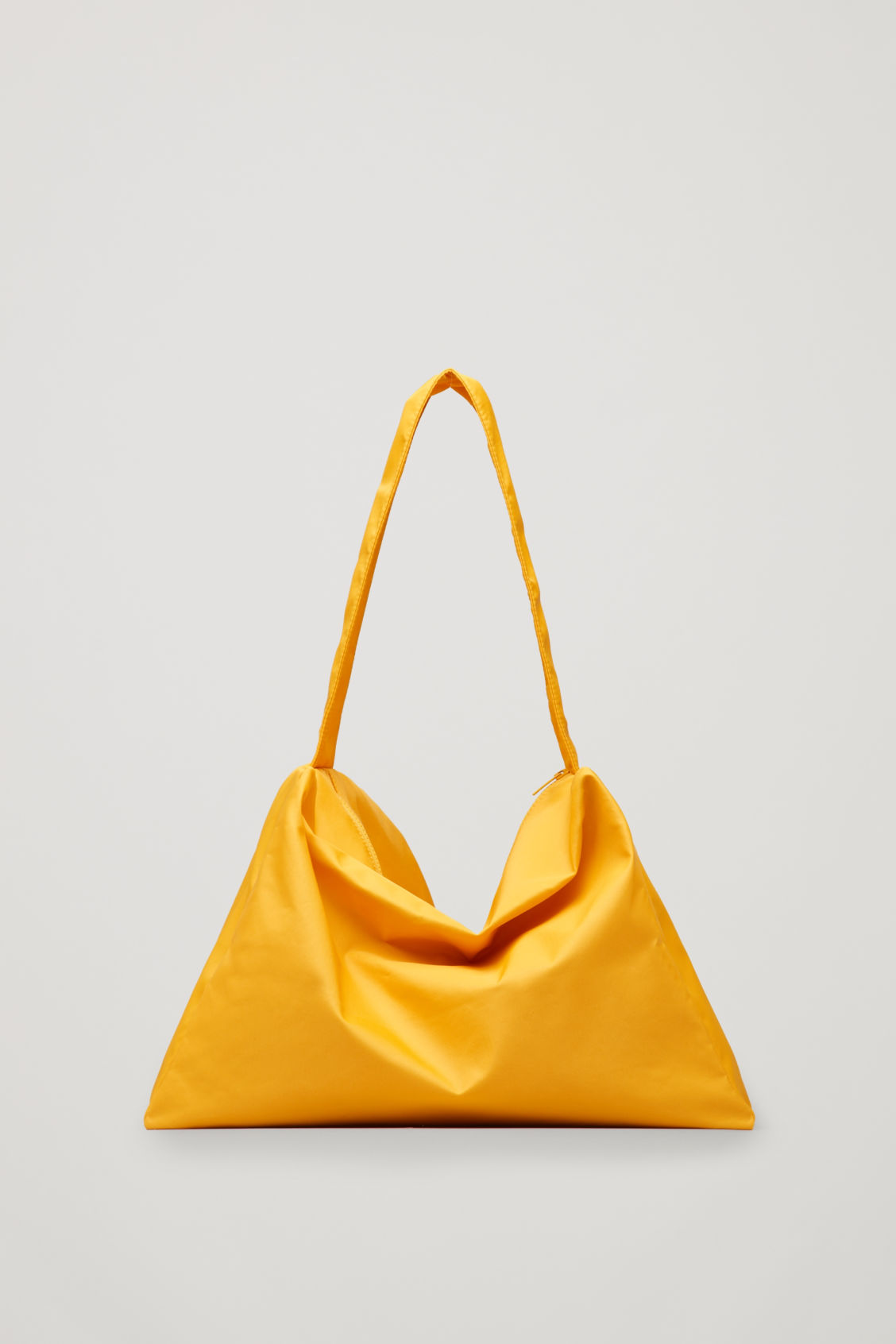 Front image of Cos collapsed tote bag in yellow
