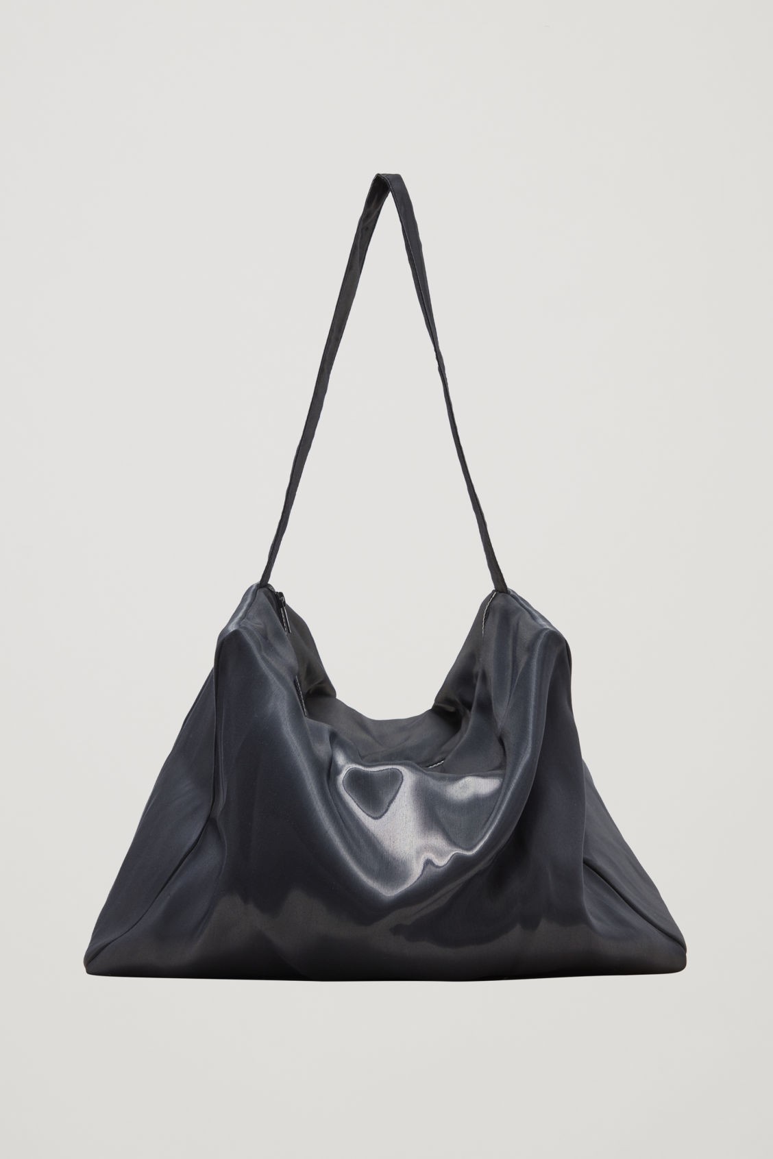 Front image of Cos collapsed tote bag in blue