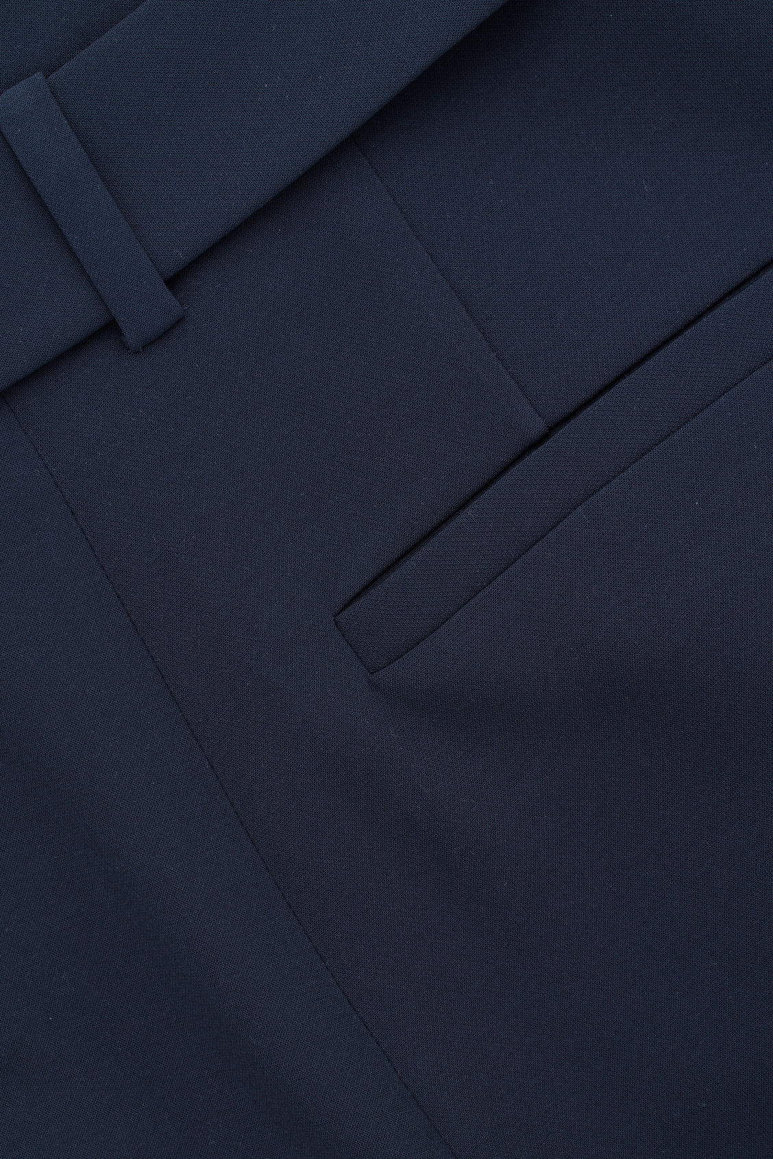 Side image of Cos belted high-waist trousers in blue