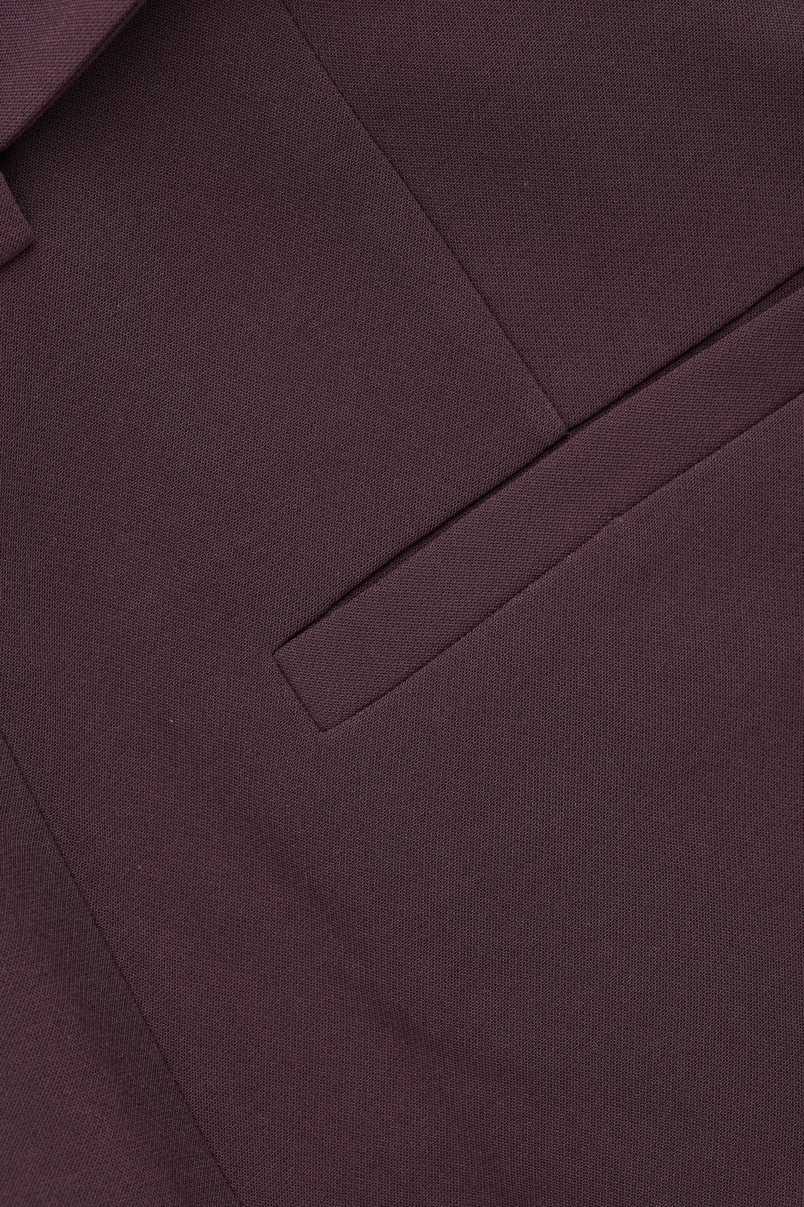 Side image of Cos belted high-waist trousers in purple