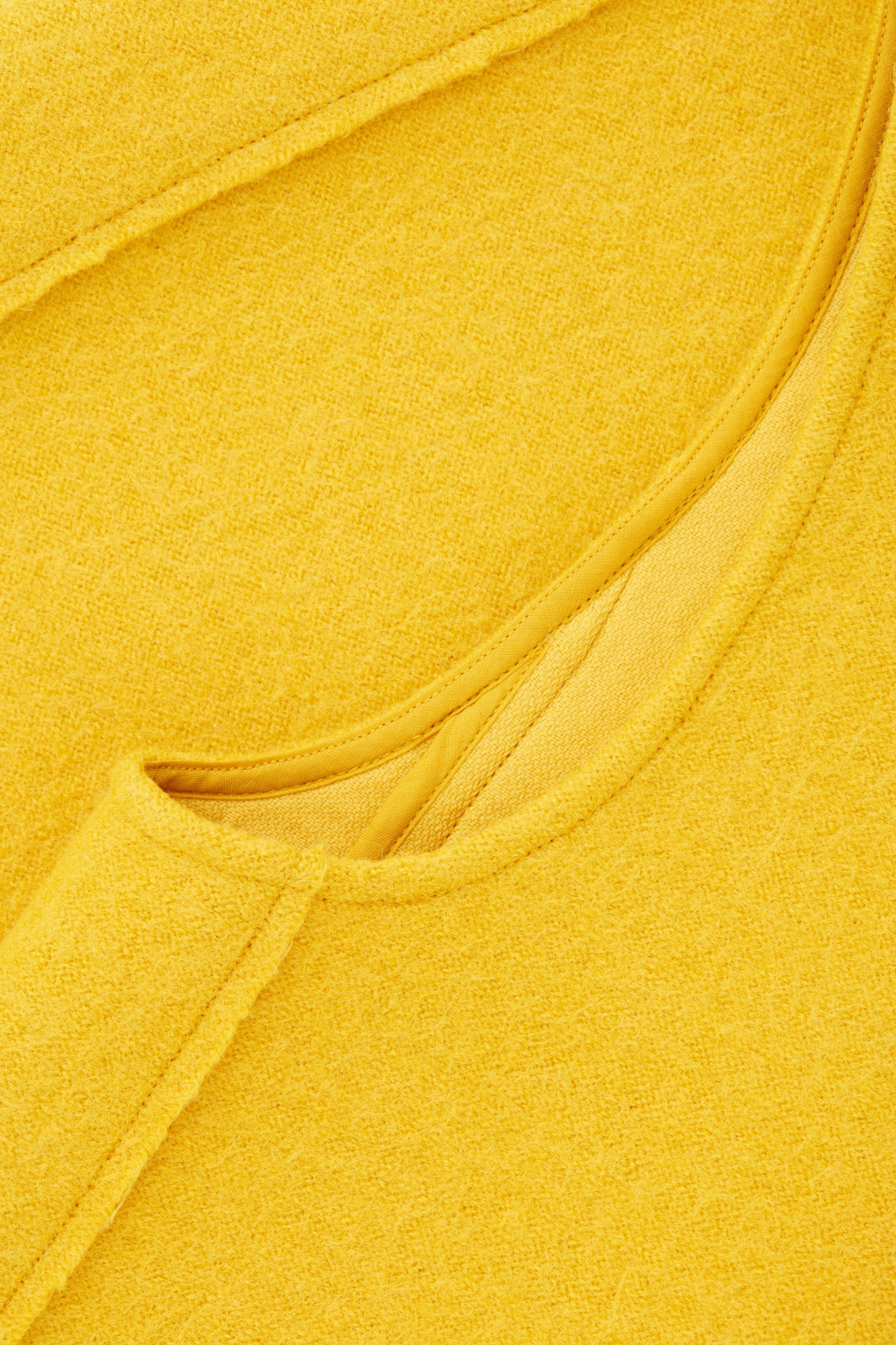 Side image of Cos panelled wool vest top  in yellow