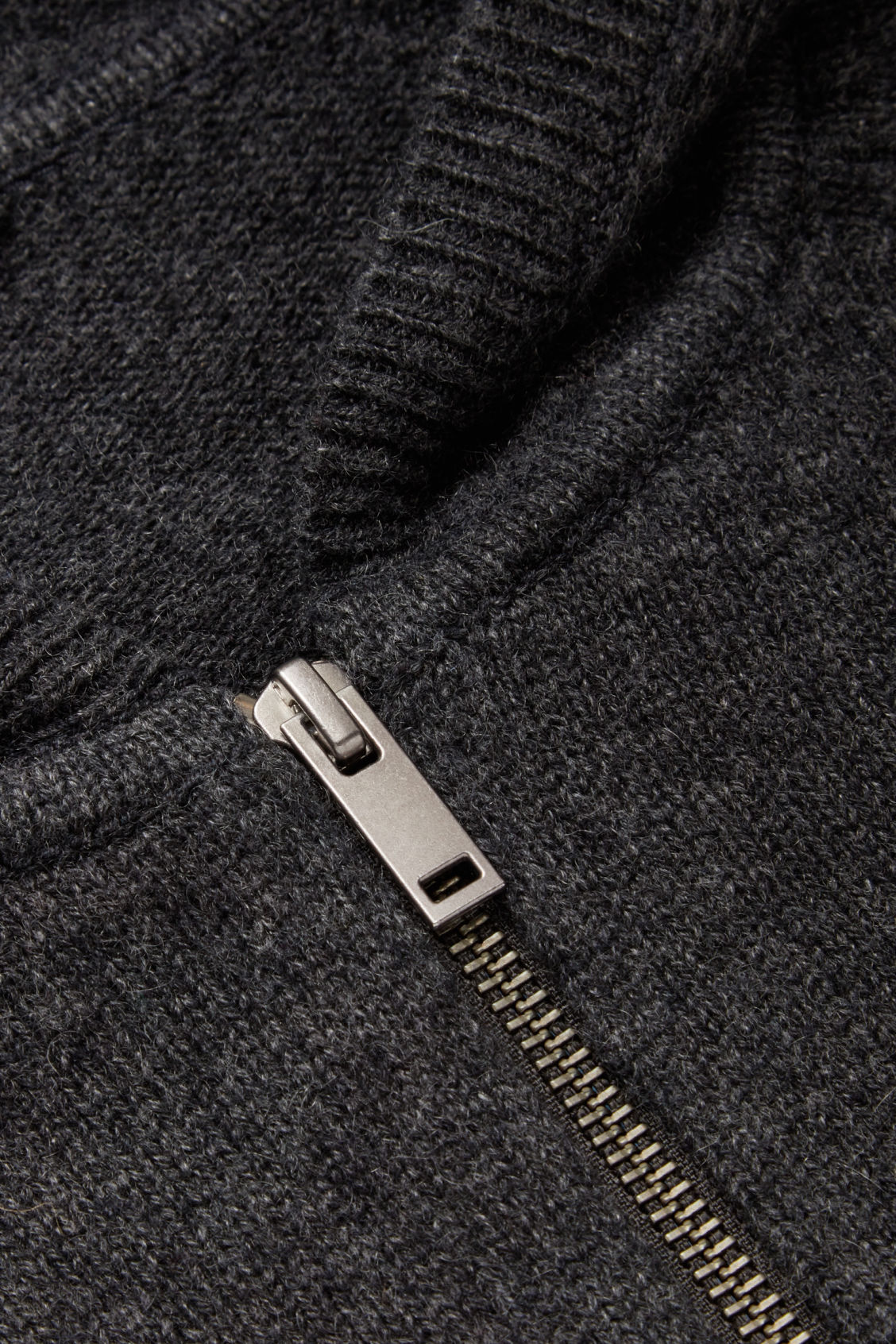 Side image of Cos relaxed cashmere hoodie  in grey