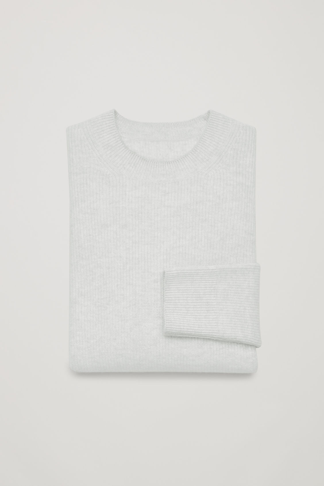 Side image of Cos cardigan-stitch cashmere jumper in grey