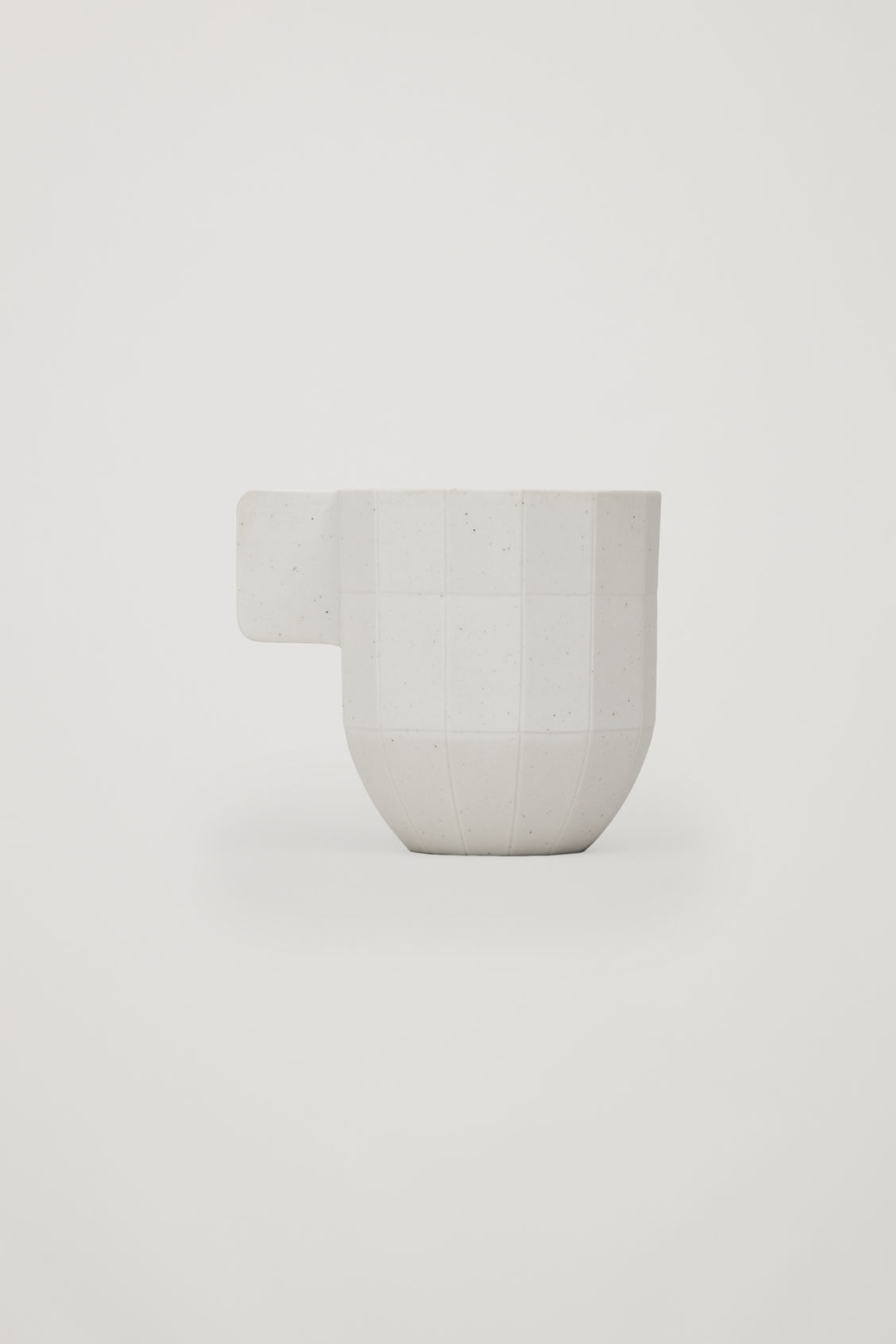 Front image of Cos hay paper coffee cup in white