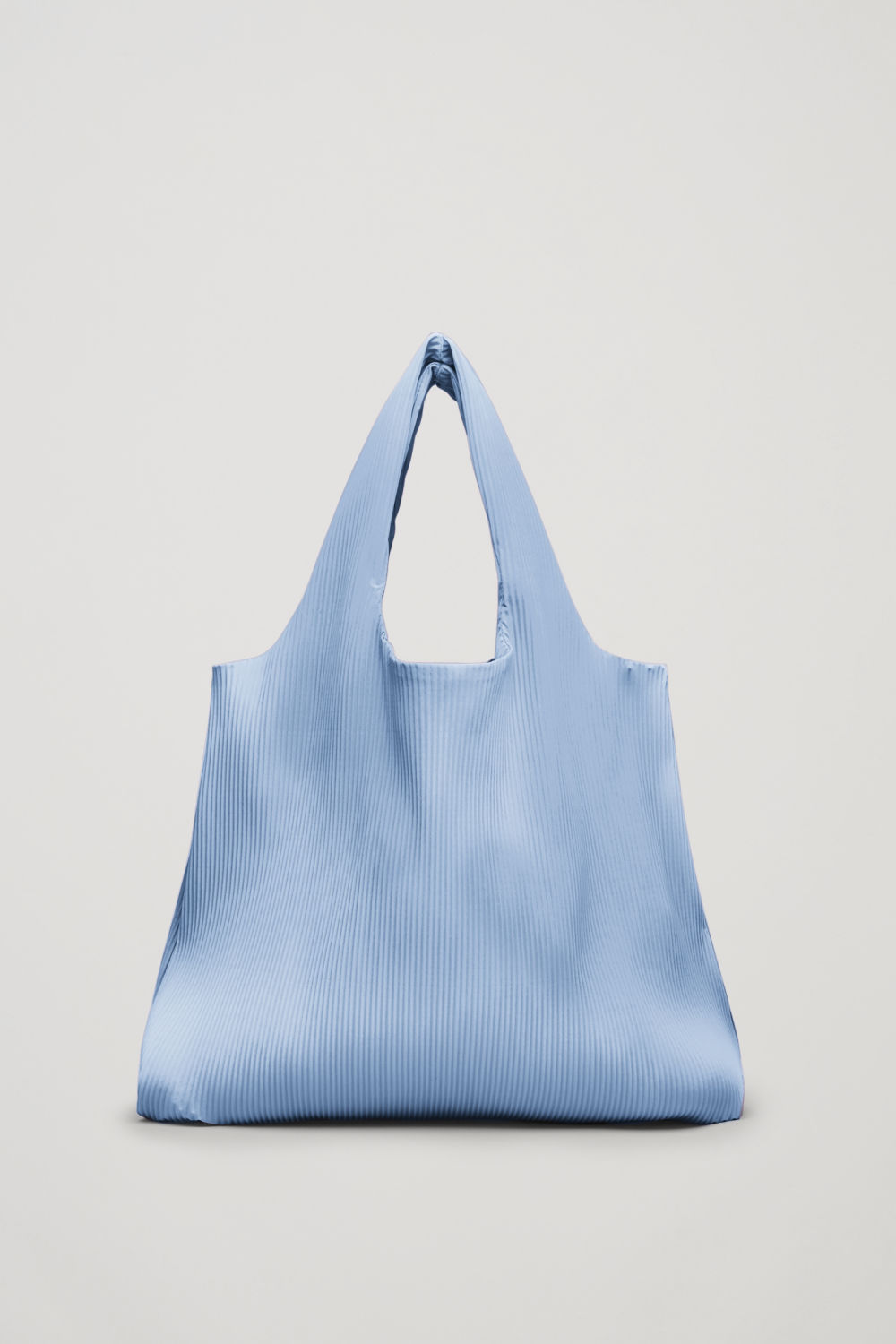 Front image of Cos pleated fabric shopper in blue