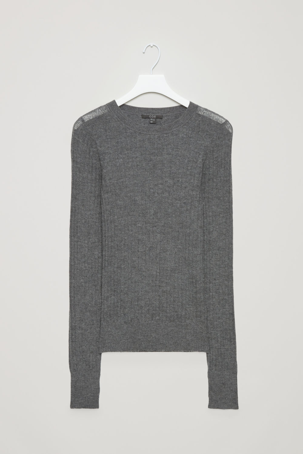 FINE RIBBED CASHMERE TOP