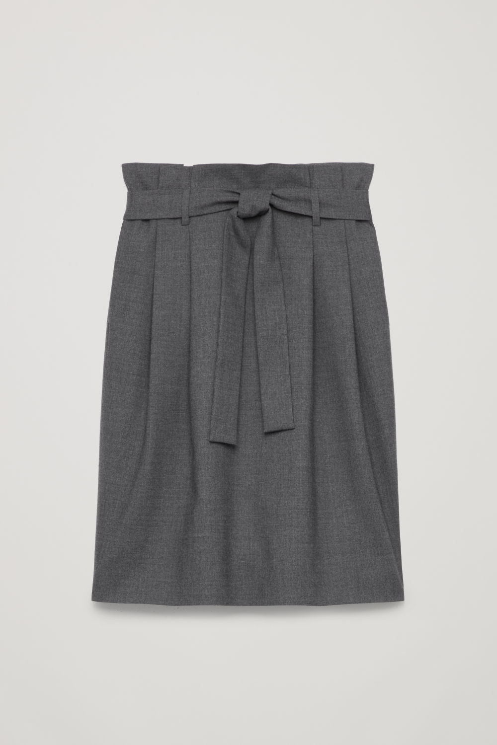 WOOL SKIRT WITH PAPERBAG WAIST