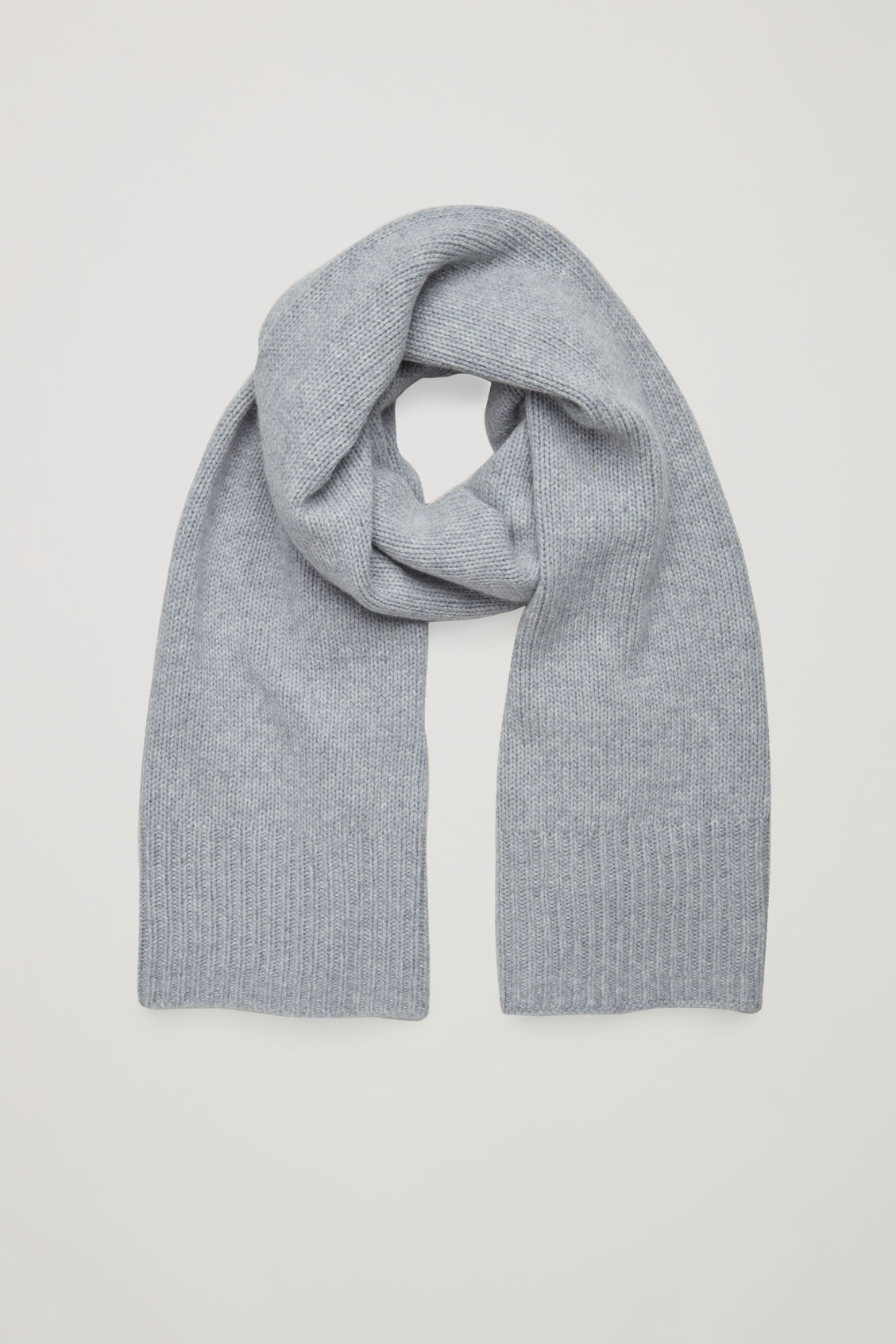 Front image of Cos cashmere-blend scarf in grey