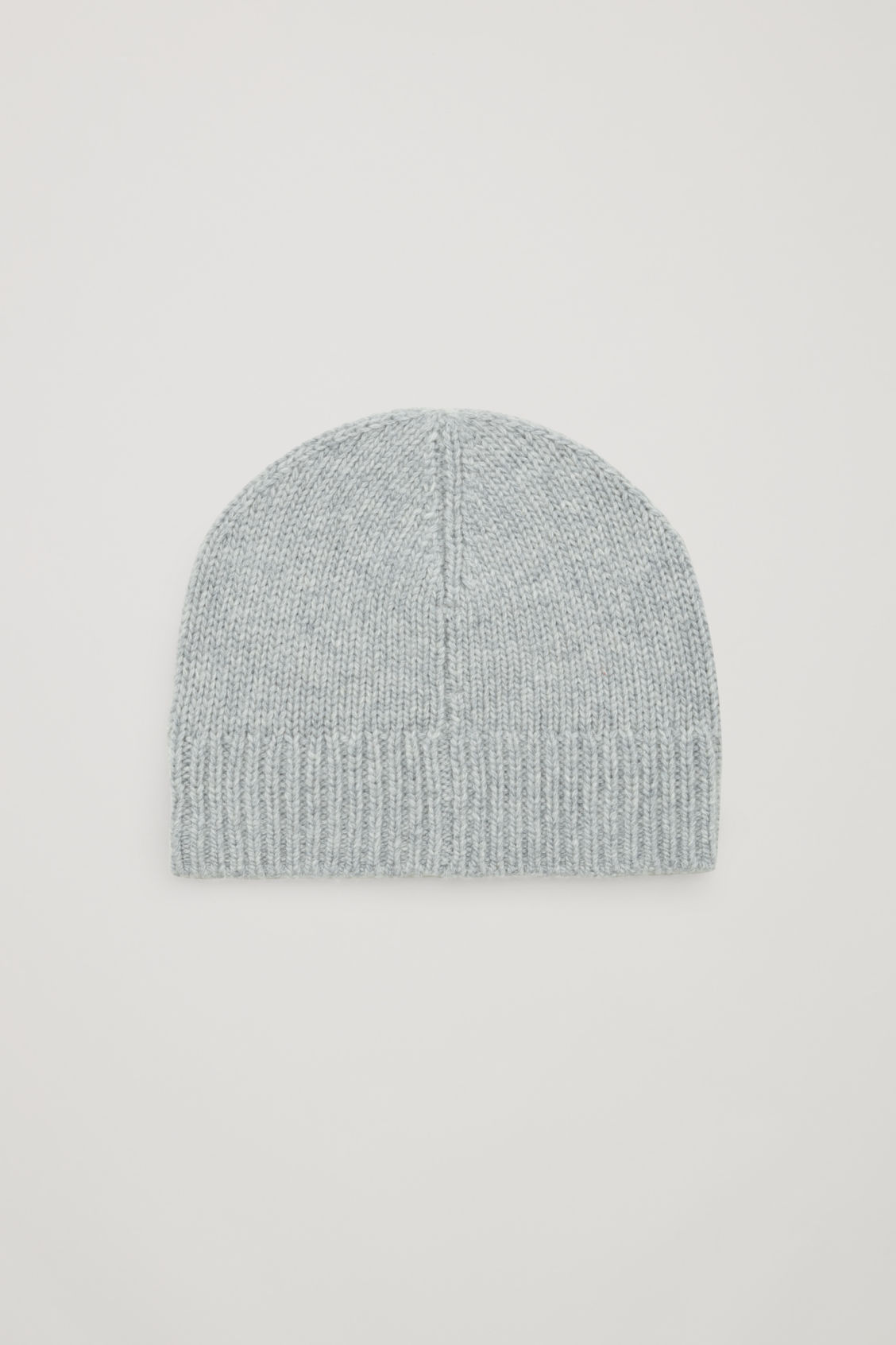 Front image of Cos cashmere-wool beanie hat  in grey