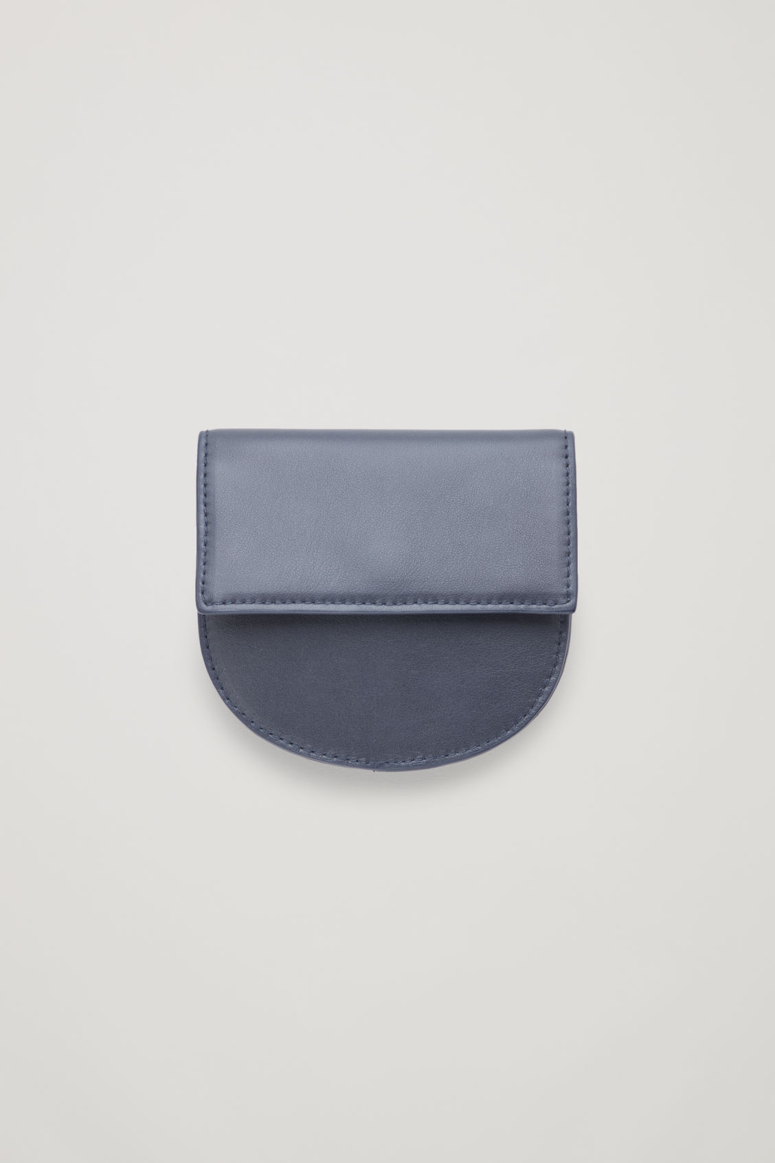 Front image of Cos half-moon leather purse in blue