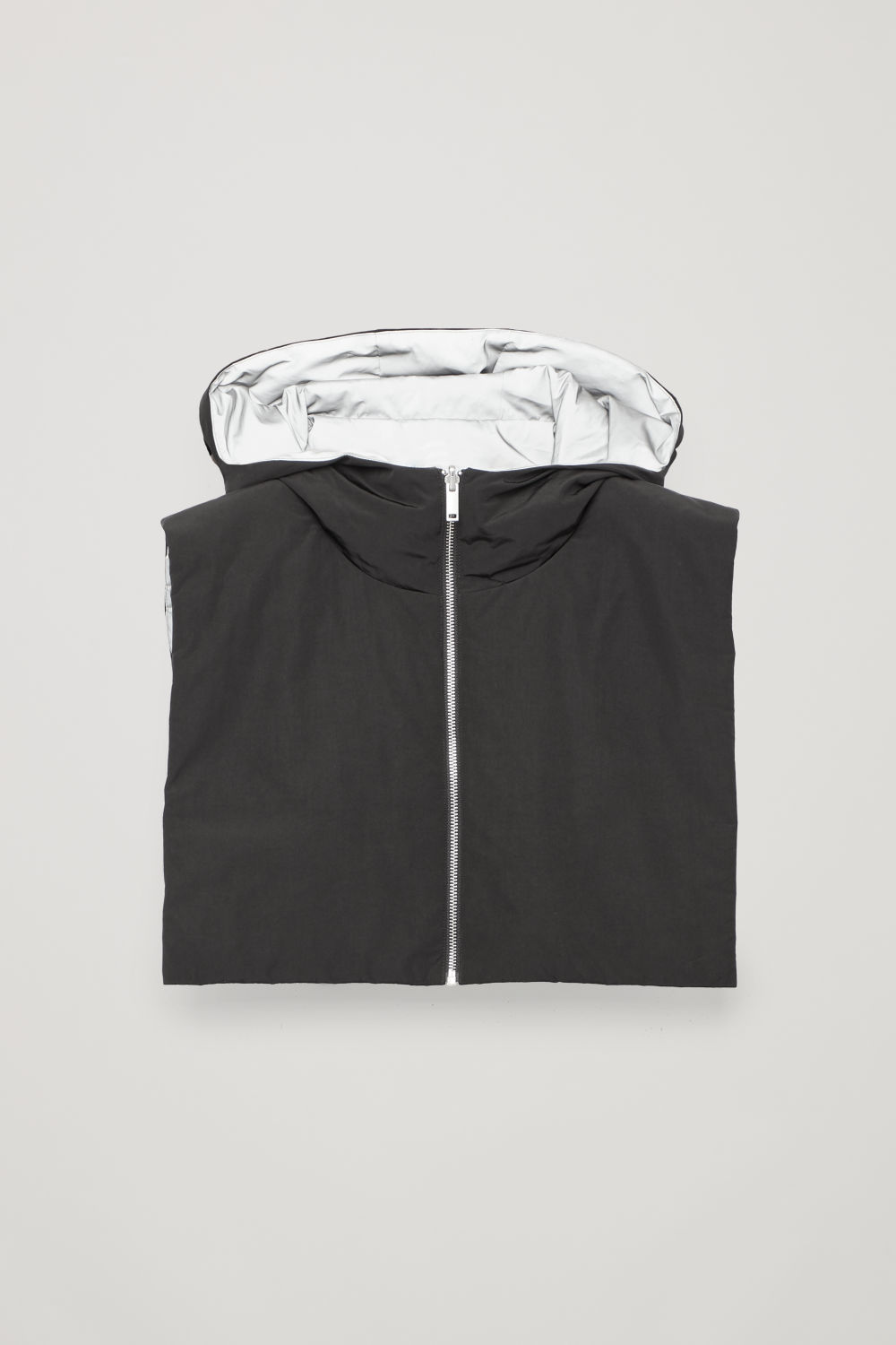 REVERSIBLE VEST WITH HOOD