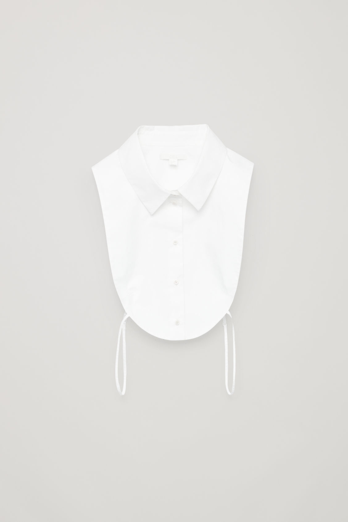 Front image of Cos pointed-collar mock shirt   in white