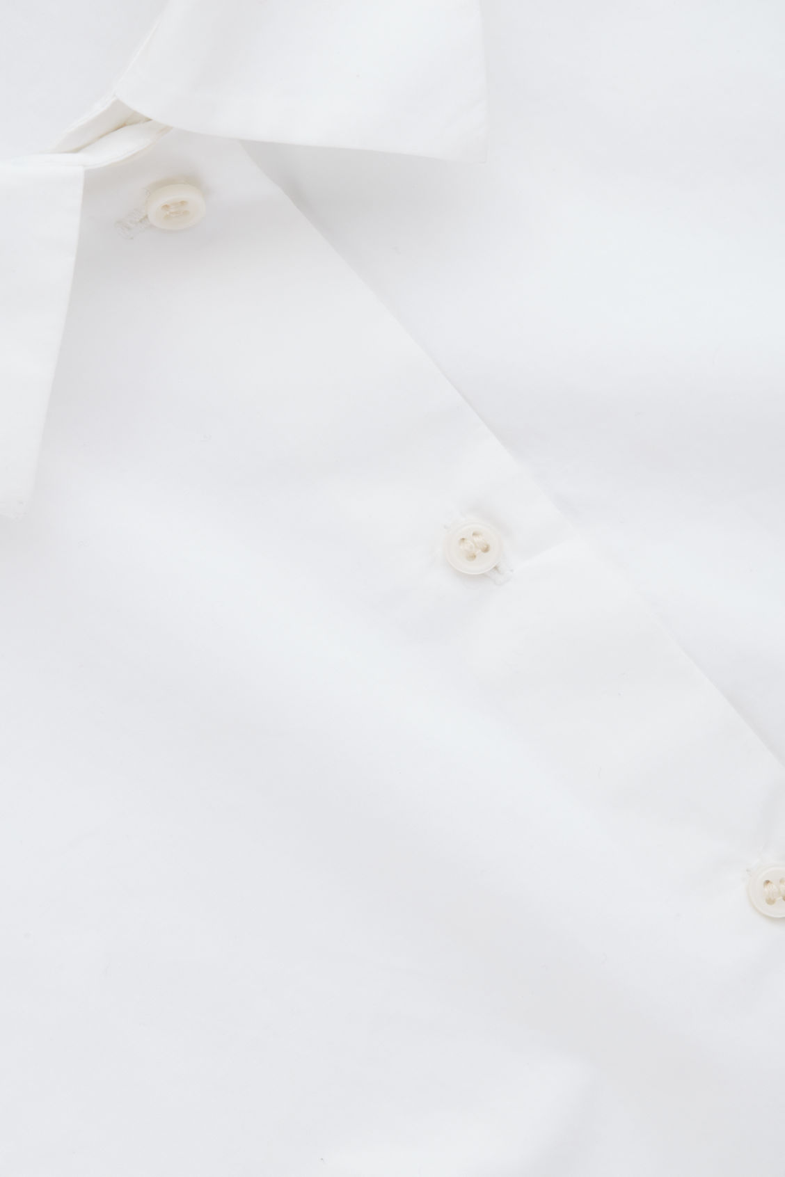 Side image of Cos pointed-collar mock shirt  in white