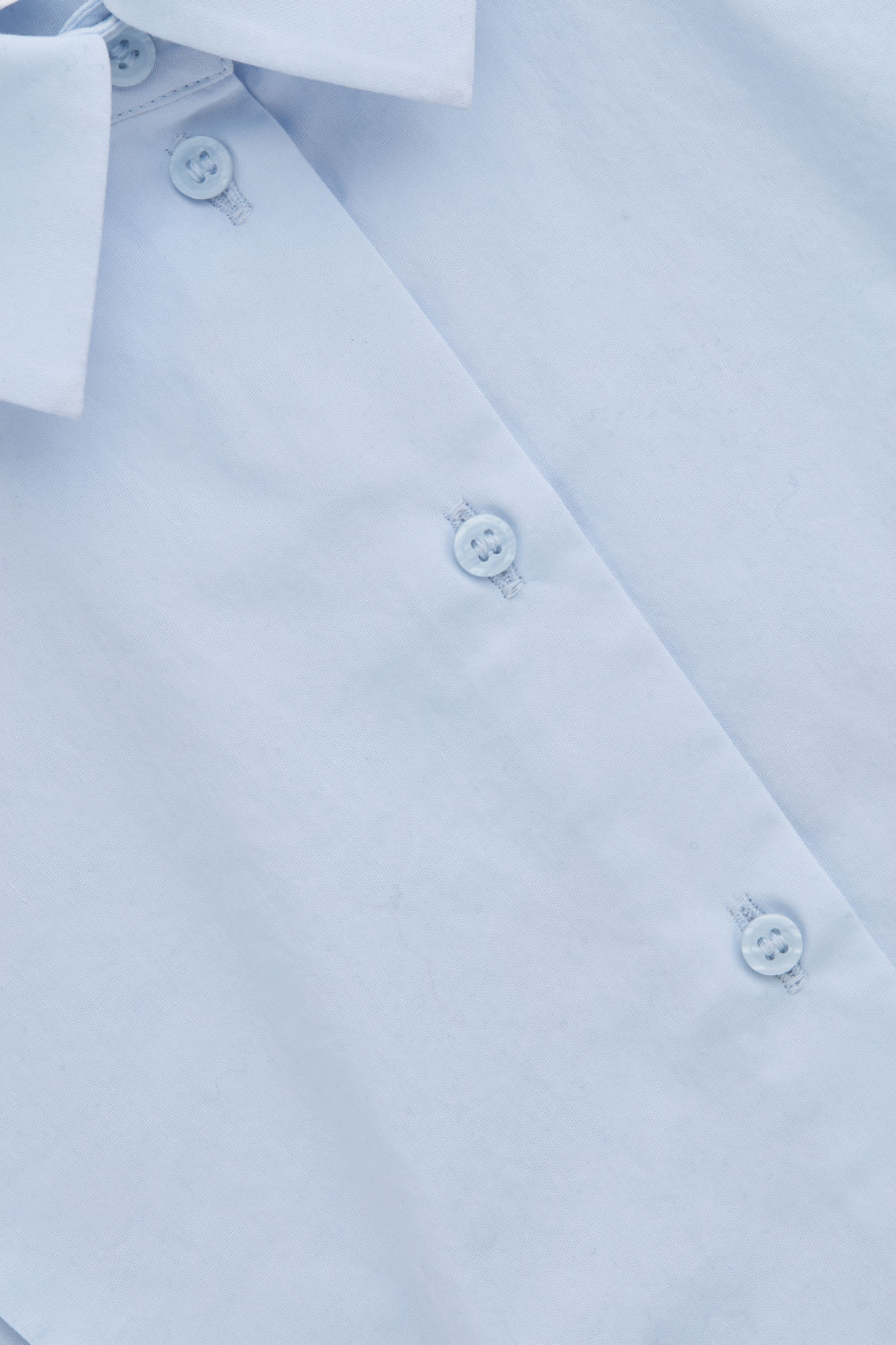 Side image of Cos pointed-collar mock shirt   in blue