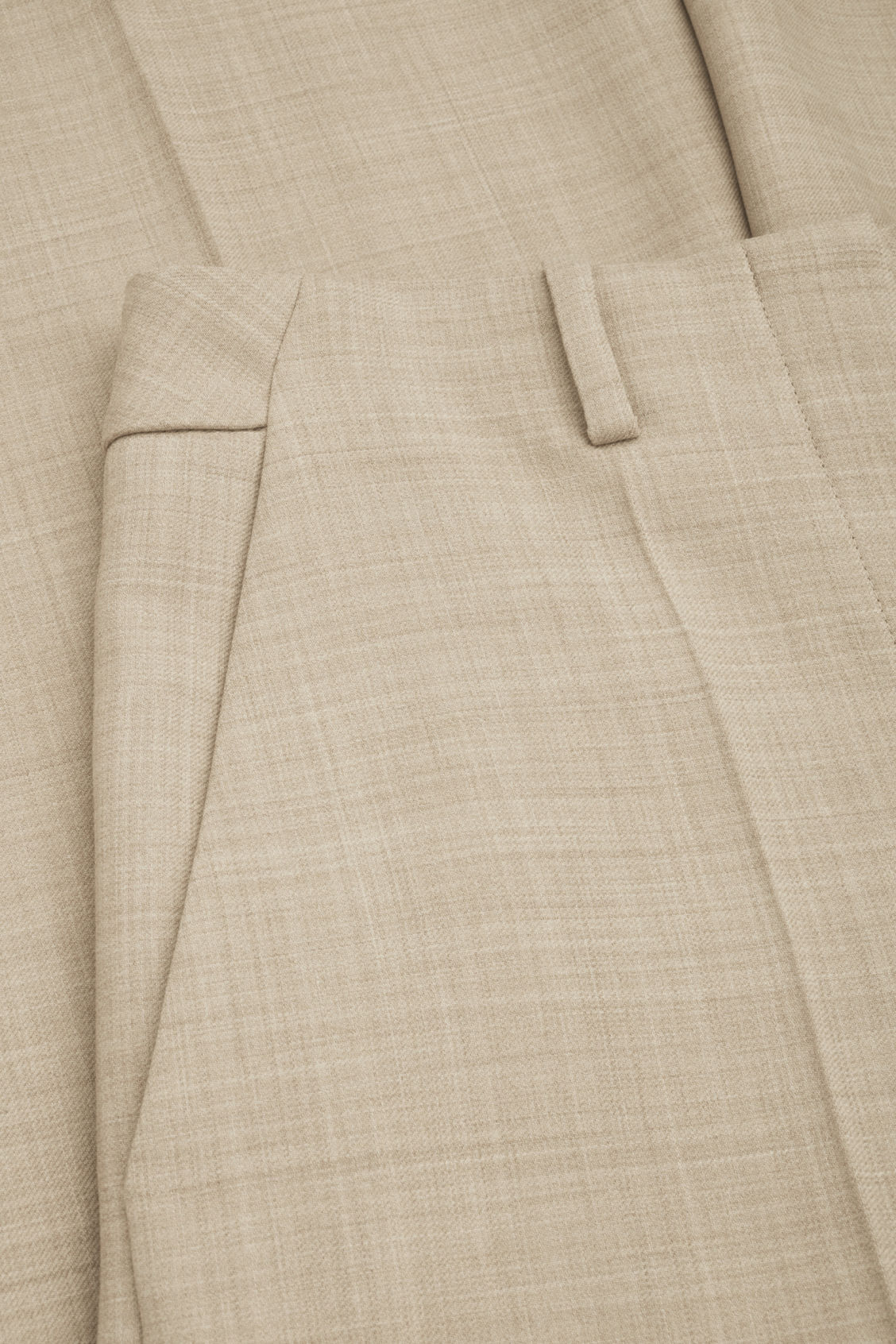 Side image of Cos tailored wool culottes in beige