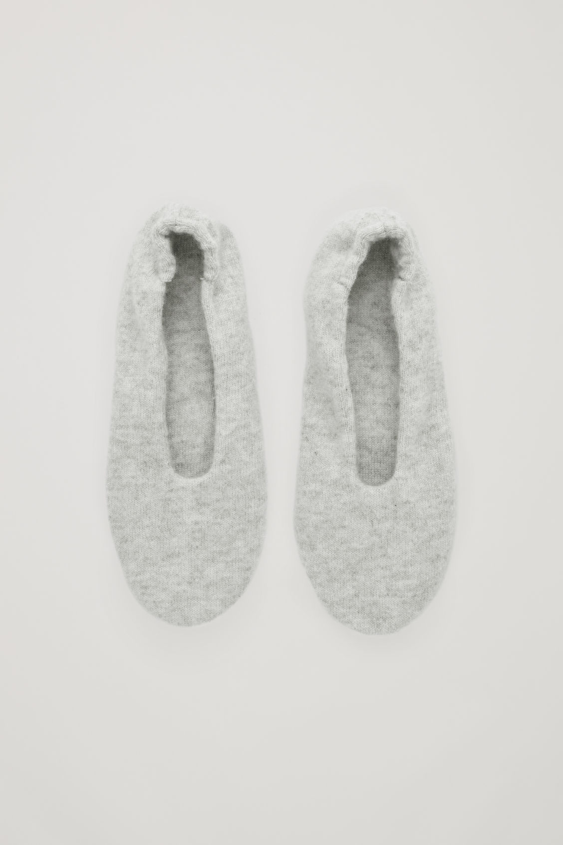 Front image of Cos cashmere ballerina slippers  in grey