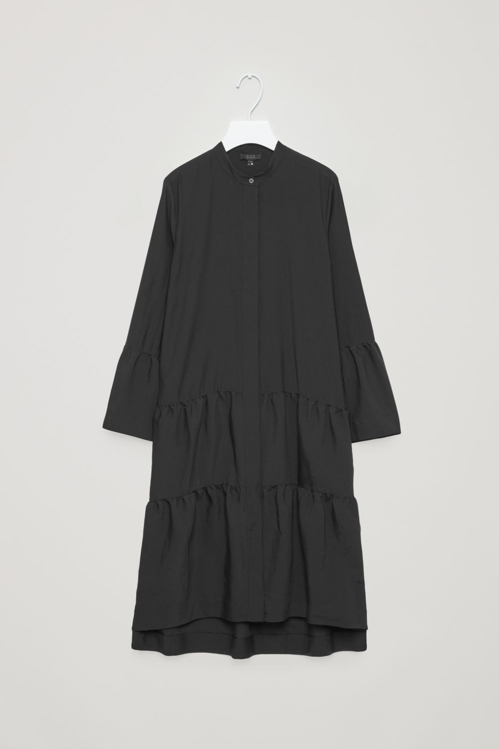 SHIRT DRESS WITH GATHERED DETAIL