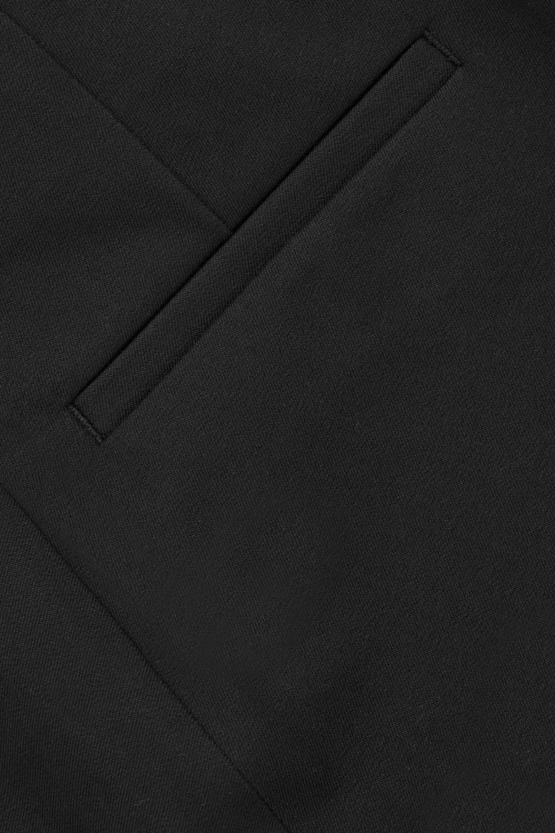 Side image of Cos slim cotton twill trousers in black