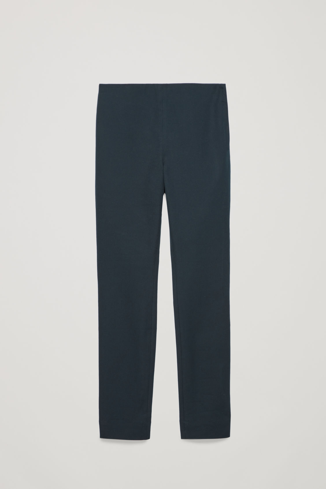 Front image of Cos slim cotton-twill trousers in blue